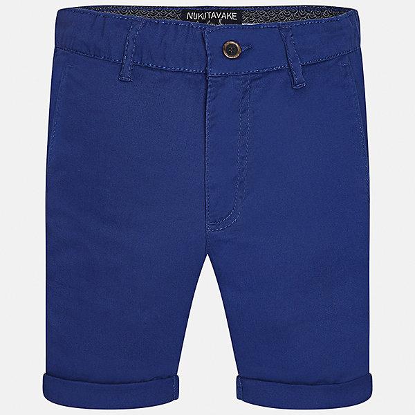 Шорты для мальчика MayoralШорты, бриджи, капри<br>Характеристики товара:<br><br>• цвет: синий<br>• состав: 97% хлопок, 3% эластан<br>• отвороты<br>• шлевки<br>• средняя длина<br>• пояс с регулировкой объема<br>• классический силуэт<br>• страна бренда: Испания<br><br>Модные шорты для мальчика смогут стать базовой вещью в гардеробе ребенка. Они отлично сочетаются с майками, футболками, рубашками и т.д.  Практичное и стильное изделие! В составе материала - натуральный хлопок, гипоаллергенный, приятный на ощупь, дышащий.<br><br>Шорты для мальчика от испанского бренда Mayoral (Майорал) можно купить в нашем интернет-магазине.<br>Ширина мм: 191; Глубина мм: 10; Высота мм: 175; Вес г: 273; Цвет: синий; Возраст от месяцев: 144; Возраст до месяцев: 156; Пол: Мужской; Возраст: Детский; Размер: 164,128/134,158,170,152,140; SKU: 5277925;