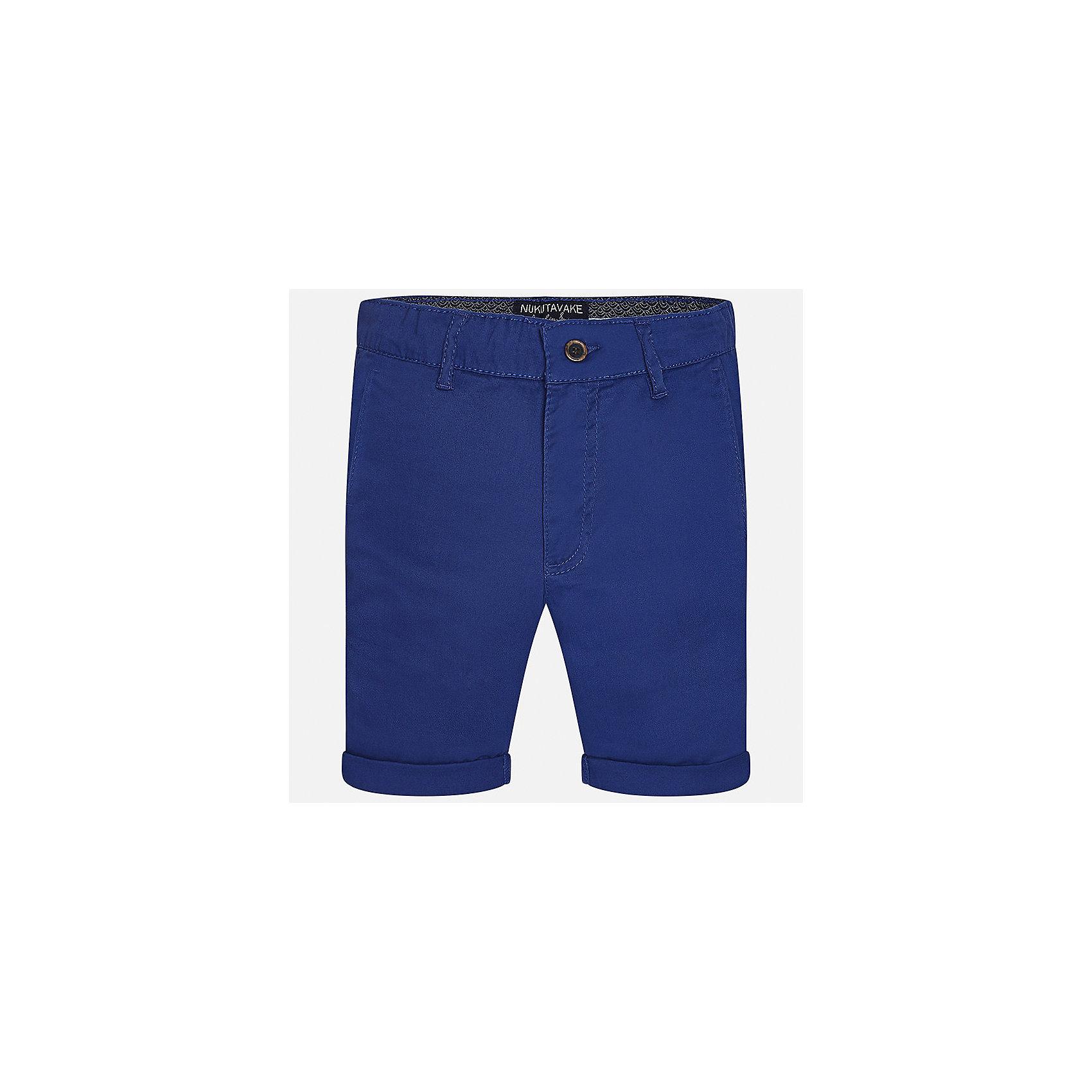 Шорты для мальчика MayoralШорты, бриджи, капри<br>Характеристики товара:<br><br>• цвет: синий<br>• состав: 97% хлопок, 3% эластан<br>• отвороты<br>• шлевки<br>• средняя длина<br>• пояс с регулировкой объема<br>• классический силуэт<br>• страна бренда: Испания<br><br>Модные шорты для мальчика смогут стать базовой вещью в гардеробе ребенка. Они отлично сочетаются с майками, футболками, рубашками и т.д.  Практичное и стильное изделие! В составе материала - натуральный хлопок, гипоаллергенный, приятный на ощупь, дышащий.<br><br>Шорты для мальчика от испанского бренда Mayoral (Майорал) можно купить в нашем интернет-магазине.<br><br>Ширина мм: 191<br>Глубина мм: 10<br>Высота мм: 175<br>Вес г: 273<br>Цвет: синий<br>Возраст от месяцев: 144<br>Возраст до месяцев: 156<br>Пол: Мужской<br>Возраст: Детский<br>Размер: 128/134,164,158,170,152,140<br>SKU: 5277925