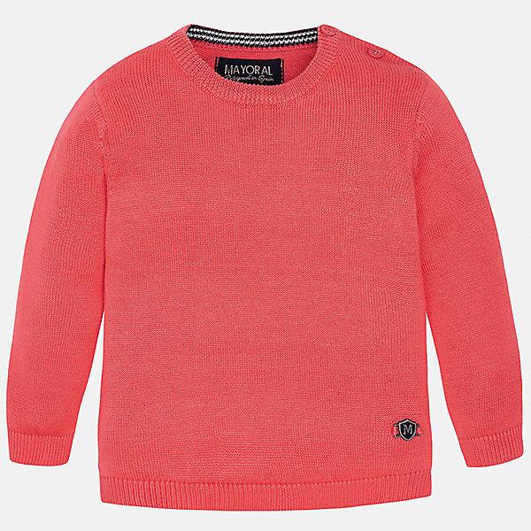 Свитер для мальчика MayoralСвитера и кардиганы<br>Характеристики товара:<br><br>• цвет: красный<br>• состав: 100% хлопок<br>• рукава длинные <br>• пуговицы на плече<br>• округлая горловина<br>• манжеты<br>• страна бренда: Испания<br><br>Удобный и красивый свитер для мальчика поможет разнообразить гардероб ребенка и обеспечить тепло. Он отлично сочетается и с джинсами, и с брюками. Универсальный цвет позволяет подобрать к вещи низ различных расцветок. Интересная отделка модели делает её нарядной и оригинальной. В составе материала - только натуральный хлопок, гипоаллергенный, приятный на ощупь, дышащий.<br><br>Одежда, обувь и аксессуары от испанского бренда Mayoral полюбились детям и взрослым по всему миру. Модели этой марки - стильные и удобные. Для их производства используются только безопасные, качественные материалы и фурнитура. Порадуйте ребенка модными и красивыми вещами от Mayoral! <br><br>Свитер для мальчика от испанского бренда Mayoral (Майорал) можно купить в нашем интернет-магазине.<br><br>Ширина мм: 190<br>Глубина мм: 74<br>Высота мм: 229<br>Вес г: 236<br>Цвет: красный<br>Возраст от месяцев: 6<br>Возраст до месяцев: 9<br>Пол: Мужской<br>Возраст: Детский<br>Размер: 74,86,80,92<br>SKU: 5277946