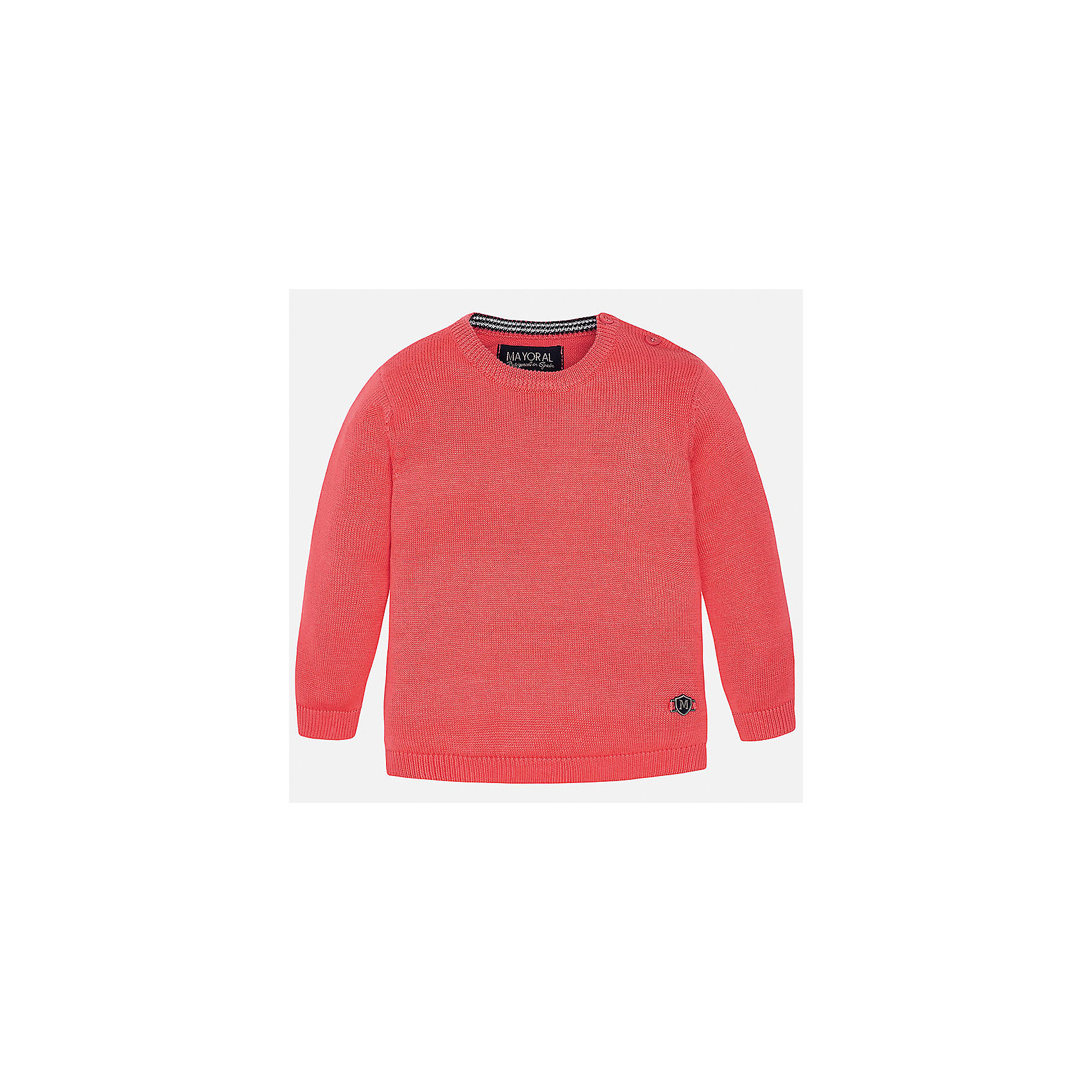 Свитер для мальчика MayoralТолстовки, свитера, кардиганы<br>Характеристики товара:<br><br>• цвет: красный<br>• состав: 100% хлопок<br>• рукава длинные <br>• пуговицы на плече<br>• округлая горловина<br>• манжеты<br>• страна бренда: Испания<br><br>Удобный и красивый свитер для мальчика поможет разнообразить гардероб ребенка и обеспечить тепло. Он отлично сочетается и с джинсами, и с брюками. Универсальный цвет позволяет подобрать к вещи низ различных расцветок. Интересная отделка модели делает её нарядной и оригинальной. В составе материала - только натуральный хлопок, гипоаллергенный, приятный на ощупь, дышащий.<br><br>Одежда, обувь и аксессуары от испанского бренда Mayoral полюбились детям и взрослым по всему миру. Модели этой марки - стильные и удобные. Для их производства используются только безопасные, качественные материалы и фурнитура. Порадуйте ребенка модными и красивыми вещами от Mayoral! <br><br>Свитер для мальчика от испанского бренда Mayoral (Майорал) можно купить в нашем интернет-магазине.<br><br>Ширина мм: 190<br>Глубина мм: 74<br>Высота мм: 229<br>Вес г: 236<br>Цвет: красный<br>Возраст от месяцев: 6<br>Возраст до месяцев: 9<br>Пол: Мужской<br>Возраст: Детский<br>Размер: 74,86,92,80<br>SKU: 5277946