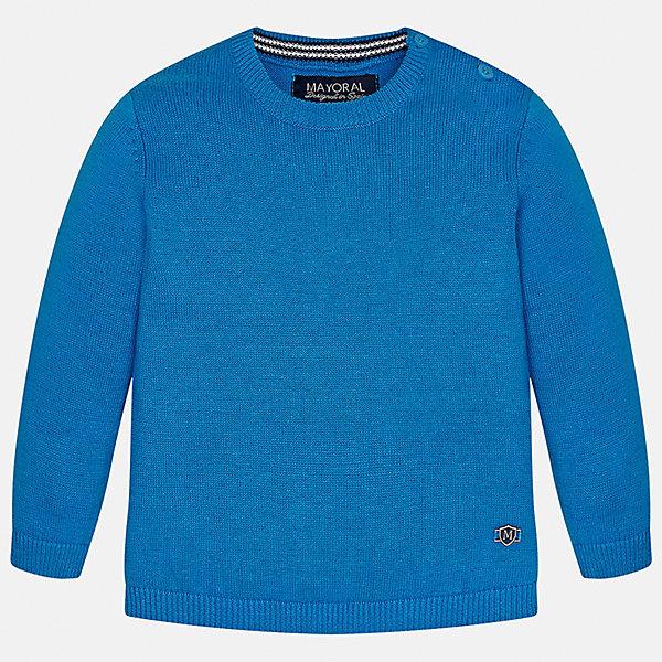 Свитер для мальчика MayoralТолстовки, свитера, кардиганы<br>Характеристики товара:<br><br>• цвет: голубой<br>• состав: 100% хлопок<br>• рукава длинные <br>• пуговицы на плече<br>• округлая горловина<br>• манжеты<br>• страна бренда: Испания<br><br>Удобный и красивый свитер для мальчика поможет разнообразить гардероб ребенка и обеспечить тепло. Он отлично сочетается и с джинсами, и с брюками. Универсальный цвет позволяет подобрать к вещи низ различных расцветок. Интересная отделка модели делает её нарядной и оригинальной. В составе материала - только натуральный хлопок, гипоаллергенный, приятный на ощупь, дышащий.<br><br>Одежда, обувь и аксессуары от испанского бренда Mayoral полюбились детям и взрослым по всему миру. Модели этой марки - стильные и удобные. Для их производства используются только безопасные, качественные материалы и фурнитура. Порадуйте ребенка модными и красивыми вещами от Mayoral! <br><br>Свитер для мальчика от испанского бренда Mayoral (Майорал) можно купить в нашем интернет-магазине.<br>Ширина мм: 190; Глубина мм: 74; Высота мм: 229; Вес г: 236; Цвет: синий; Возраст от месяцев: 6; Возраст до месяцев: 9; Пол: Мужской; Возраст: Детский; Размер: 74,80,86,92; SKU: 5277956;