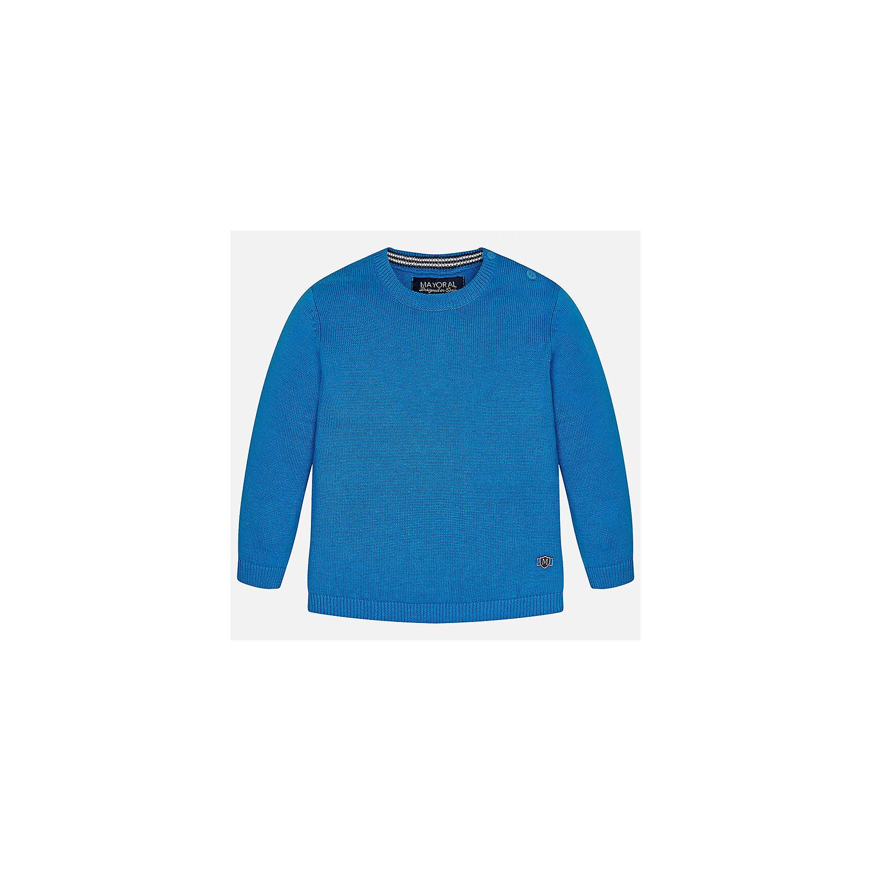 Свитер для мальчика MayoralСвитера и кардиганы<br>Характеристики товара:<br><br>• цвет: голубой<br>• состав: 100% хлопок<br>• рукава длинные <br>• пуговицы на плече<br>• округлая горловина<br>• манжеты<br>• страна бренда: Испания<br><br>Удобный и красивый свитер для мальчика поможет разнообразить гардероб ребенка и обеспечить тепло. Он отлично сочетается и с джинсами, и с брюками. Универсальный цвет позволяет подобрать к вещи низ различных расцветок. Интересная отделка модели делает её нарядной и оригинальной. В составе материала - только натуральный хлопок, гипоаллергенный, приятный на ощупь, дышащий.<br><br>Одежда, обувь и аксессуары от испанского бренда Mayoral полюбились детям и взрослым по всему миру. Модели этой марки - стильные и удобные. Для их производства используются только безопасные, качественные материалы и фурнитура. Порадуйте ребенка модными и красивыми вещами от Mayoral! <br><br>Свитер для мальчика от испанского бренда Mayoral (Майорал) можно купить в нашем интернет-магазине.<br><br>Ширина мм: 190<br>Глубина мм: 74<br>Высота мм: 229<br>Вес г: 236<br>Цвет: синий<br>Возраст от месяцев: 12<br>Возраст до месяцев: 15<br>Пол: Мужской<br>Возраст: Детский<br>Размер: 80,86,74,92<br>SKU: 5277956