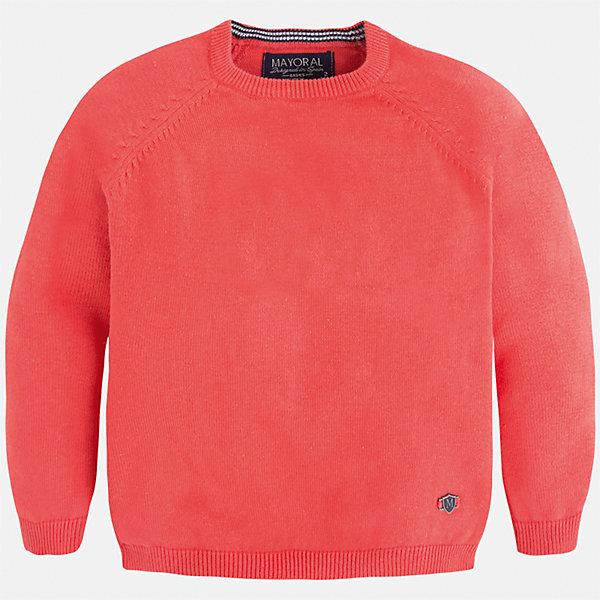 Свитер для мальчика MayoralСвитера и кардиганы<br>Характеристики товара:<br><br>• цвет: розовый<br>• состав: 60% хлопок, 30% полиэстер, 10% шерсть<br>• рукава длинные <br>• вышивка на груди<br>• округлая горловина<br>• манжеты<br>• страна бренда: Испания<br><br>Удобный и красивый свитер для мальчика поможет разнообразить гардероб ребенка и обеспечить тепло. Он отлично сочетается и с джинсами, и с брюками. Универсальный цвет позволяет подобрать к вещи низ различных расцветок. Интересная отделка модели делает её нарядной и оригинальной. В составе материала - натуральный хлопок, гипоаллергенный, приятный на ощупь, дышащий.<br><br>Одежда, обувь и аксессуары от испанского бренда Mayoral полюбились детям и взрослым по всему миру. Модели этой марки - стильные и удобные. Для их производства используются только безопасные, качественные материалы и фурнитура. Порадуйте ребенка модными и красивыми вещами от Mayoral! <br><br>Свитер для мальчика от испанского бренда Mayoral (Майорал) можно купить в нашем интернет-магазине.<br>Ширина мм: 190; Глубина мм: 74; Высота мм: 229; Вес г: 236; Цвет: розовый; Возраст от месяцев: 18; Возраст до месяцев: 24; Пол: Мужской; Возраст: Детский; Размер: 98,134,104,92,116,128,122,110; SKU: 5277979;
