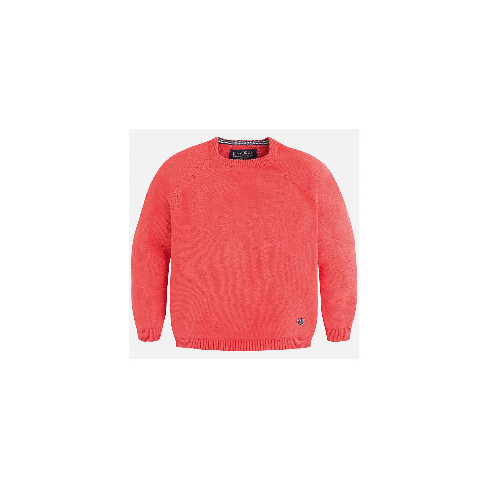 Свитер для мальчика MayoralСвитера и кардиганы<br>Характеристики товара:<br><br>• цвет: розовый<br>• состав: 60% хлопок, 30% полиэстер, 10% шерсть<br>• рукава длинные <br>• вышивка на груди<br>• округлая горловина<br>• манжеты<br>• страна бренда: Испания<br><br>Удобный и красивый свитер для мальчика поможет разнообразить гардероб ребенка и обеспечить тепло. Он отлично сочетается и с джинсами, и с брюками. Универсальный цвет позволяет подобрать к вещи низ различных расцветок. Интересная отделка модели делает её нарядной и оригинальной. В составе материала - натуральный хлопок, гипоаллергенный, приятный на ощупь, дышащий.<br><br>Одежда, обувь и аксессуары от испанского бренда Mayoral полюбились детям и взрослым по всему миру. Модели этой марки - стильные и удобные. Для их производства используются только безопасные, качественные материалы и фурнитура. Порадуйте ребенка модными и красивыми вещами от Mayoral! <br><br>Свитер для мальчика от испанского бренда Mayoral (Майорал) можно купить в нашем интернет-магазине.<br><br>Ширина мм: 190<br>Глубина мм: 74<br>Высота мм: 229<br>Вес г: 236<br>Цвет: розовый<br>Возраст от месяцев: 60<br>Возраст до месяцев: 72<br>Пол: Мужской<br>Возраст: Детский<br>Размер: 116,104,134,98,92,110,122,128<br>SKU: 5277979