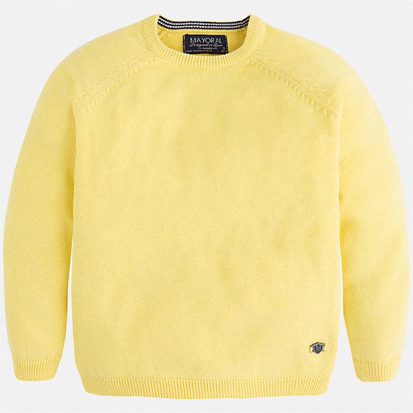 Свитер для мальчика MayoralСвитера и кардиганы<br>Характеристики товара:<br><br>• цвет: жёлтый<br>• состав: 60% хлопок, 30% полиэстер, 10% шерсть<br>• рукава длинные <br>• вышивка на груди<br>• округлая горловина<br>• манжеты<br>• страна бренда: Испания<br><br>Удобный и красивый свитер для мальчика поможет разнообразить гардероб ребенка и обеспечить тепло. Он отлично сочетается и с джинсами, и с брюками. Интересная отделка модели делает её нарядной и оригинальной. В составе материала - натуральный хлопок, гипоаллергенный, приятный на ощупь, дышащий.<br><br>Свитер для мальчика от испанского бренда Mayoral (Майорал) можно купить в нашем интернет-магазине.<br>Ширина мм: 190; Глубина мм: 74; Высота мм: 229; Вес г: 236; Цвет: желтый; Возраст от месяцев: 60; Возраст до месяцев: 72; Пол: Мужской; Возраст: Детский; Размер: 116,92,98,104,122,128,134,110; SKU: 5277988;