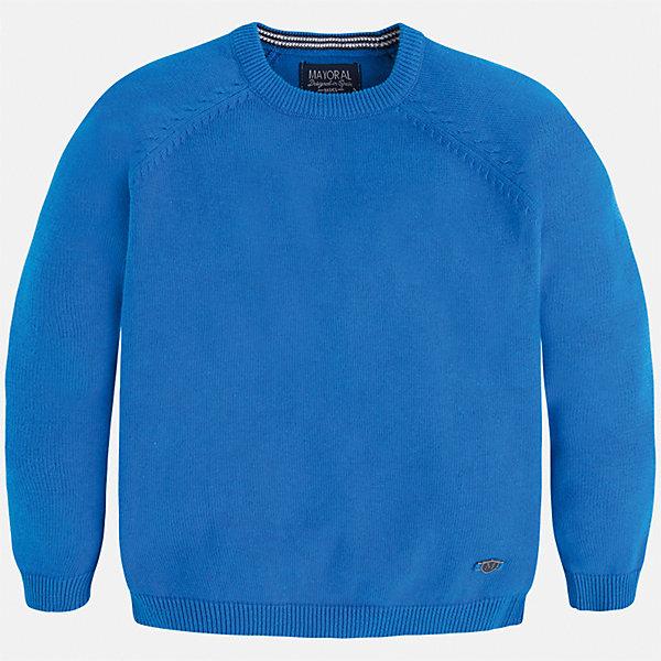 Свитер для мальчика MayoralСвитера и кардиганы<br>Характеристики товара:<br><br>• цвет: голубой<br>• состав: 60% хлопок, 30% полиэстер, 10% шерсть<br>• рукава длинные <br>• вышивка на груди<br>• округлая горловина<br>• манжеты<br>• страна бренда: Испания<br><br>Удобный и красивый свитер для мальчика поможет разнообразить гардероб ребенка и обеспечить тепло. Он отлично сочетается и с джинсами, и с брюками. Универсальный цвет позволяет подобрать к вещи низ различных расцветок. Интересная отделка модели делает её нарядной и оригинальной. В составе материала - натуральный хлопок, гипоаллергенный, приятный на ощупь, дышащий.<br><br>Одежда, обувь и аксессуары от испанского бренда Mayoral полюбились детям и взрослым по всему миру. Модели этой марки - стильные и удобные. Для их производства используются только безопасные, качественные материалы и фурнитура. Порадуйте ребенка модными и красивыми вещами от Mayoral! <br><br>Свитер для мальчика от испанского бренда Mayoral (Майорал) можно купить в нашем интернет-магазине.<br><br>Ширина мм: 190<br>Глубина мм: 74<br>Высота мм: 229<br>Вес г: 236<br>Цвет: синий<br>Возраст от месяцев: 72<br>Возраст до месяцев: 84<br>Пол: Мужской<br>Возраст: Детский<br>Размер: 122,110,128,116,134<br>SKU: 5277997