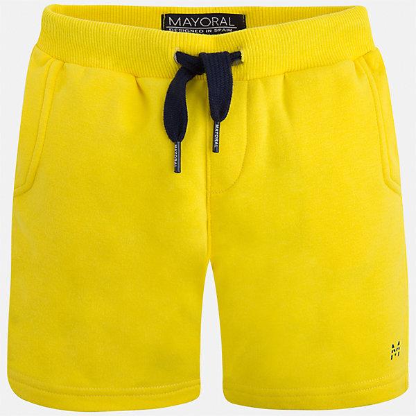 Шорты для мальчика MayoralШорты, бриджи, капри<br>Характеристики товара:<br><br>• цвет: желтый<br>• состав: 58% хлопок, 38% полиэстер, 4% эластан<br>• средняя длина<br>• карманы<br>• пояс - резинка со шнурком<br>• мягкий материал<br>• страна бренда: Испания<br><br>Спортивные шорты для мальчика помогут обеспечить ребенку комфорт. Они отлично сочетаются с майками, футболками, курточками в спортивном стиле. Универсальный крой и цвет позволяет подобрать к вещи верх разных расцветок. Практичное и стильное изделие! В составе материала - натуральный хлопок, гипоаллергенный, приятный на ощупь, дышащий.<br><br>Одежда, обувь и аксессуары от испанского бренда Mayoral полюбились детям и взрослым по всему миру. Модели этой марки - стильные и удобные. Для их производства используются только безопасные, качественные материалы и фурнитура. Порадуйте ребенка модными и красивыми вещами от Mayoral! <br><br>Шорты для мальчика от испанского бренда Mayoral (Майорал) можно купить в нашем интернет-магазине.<br>Ширина мм: 191; Глубина мм: 10; Высота мм: 175; Вес г: 273; Цвет: желтый; Возраст от месяцев: 18; Возраст до месяцев: 24; Пол: Мужской; Возраст: Детский; Размер: 92,98,110,104; SKU: 5278160;