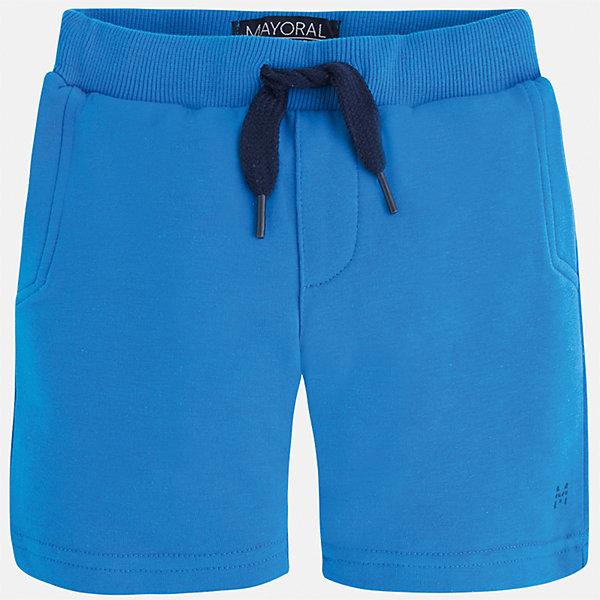 Шорты для мальчика MayoralШорты и бриджи<br>Характеристики товара:<br><br>• цвет: голубой<br>• состав: 58% хлопок, 38% полиэстер, 4% эластан<br>• средняя длина<br>• карманы<br>• пояс - резинка со шнурком<br>• мягкий материал<br>• страна бренда: Испания<br><br>Спортивные шорты для мальчика помогут обеспечить ребенку комфорт. Они отлично сочетаются с майками, футболками, курточками в спортивном стиле. Универсальный крой и цвет позволяет подобрать к вещи верх разных расцветок. Практичное и стильное изделие! В составе материала - натуральный хлопок, гипоаллергенный, приятный на ощупь, дышащий.<br><br>Одежда, обувь и аксессуары от испанского бренда Mayoral полюбились детям и взрослым по всему миру. Модели этой марки - стильные и удобные. Для их производства используются только безопасные, качественные материалы и фурнитура. Порадуйте ребенка модными и красивыми вещами от Mayoral! <br><br>Шорты для мальчика от испанского бренда Mayoral (Майорал) можно купить в нашем интернет-магазине.<br><br>Ширина мм: 191<br>Глубина мм: 10<br>Высота мм: 175<br>Вес г: 273<br>Цвет: синий<br>Возраст от месяцев: 18<br>Возраст до месяцев: 24<br>Пол: Мужской<br>Возраст: Детский<br>Размер: 92,98,122,128,134,116,110,104<br>SKU: 5278165