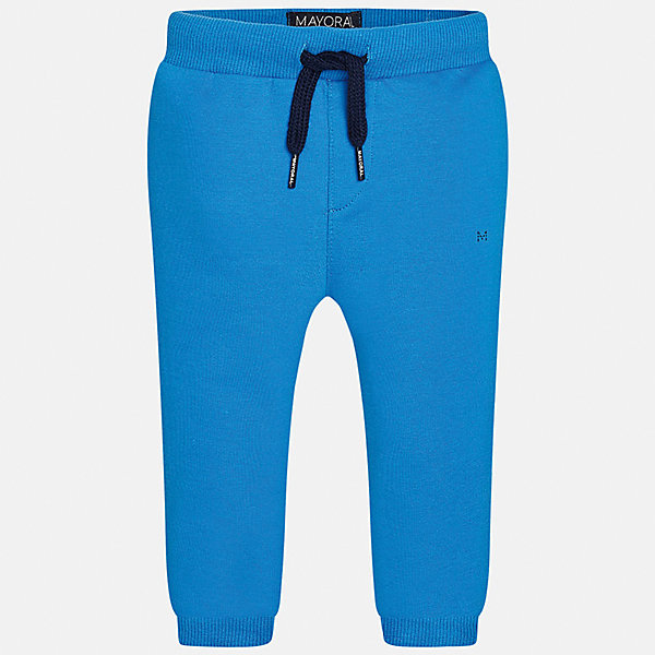 Брюки для мальчика MayoralБрюки<br>Характеристики товара:<br><br>• цвет: голубой<br>• состав: 58% хлопок, 38% полиэстер, 4% эластан<br>• спортивный стиль<br>• манжеты<br>• карманы<br>• пояс - широкая резинка и шнурок<br>• страна бренда: Испания<br><br>Спортивные брюки для мальчика помогут обеспечить ребенку комфорт. Они отлично сочетаются с майками, футболками, куртками и т.д. Универсальный крой и цвет позволяет подобрать к вещи верх разных расцветок. Практичное и стильное изделие! В составе материала - натуральный хлопок, гипоаллергенный, приятный на ощупь, дышащий.<br><br>Одежда, обувь и аксессуары от испанского бренда Mayoral полюбились детям и взрослым по всему миру. Модели этой марки - стильные и удобные. Для их производства используются только безопасные, качественные материалы и фурнитура. Порадуйте ребенка модными и красивыми вещами от Mayoral! <br><br>Брюки для мальчика от испанского бренда Mayoral (Майорал) можно купить в нашем интернет-магазине.<br>Ширина мм: 215; Глубина мм: 88; Высота мм: 191; Вес г: 336; Цвет: синий; Возраст от месяцев: 12; Возраст до месяцев: 15; Пол: Мужской; Возраст: Детский; Размер: 80,92,86; SKU: 5278201;
