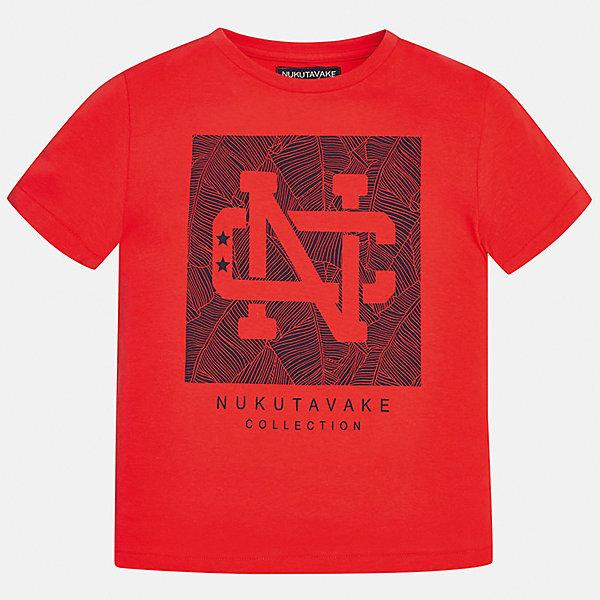 Футболка для мальчика MayoralФутболки, поло и топы<br>Характеристики товара:<br><br>• цвет: красный<br>• состав: 100% хлопок<br>• круглый горловой вырез<br>• декорирована принтом<br>• короткие рукава<br>• отделка горловины<br>• страна бренда: Испания<br><br>Стильная удобная футболка с принтом поможет разнообразить гардероб мальчика. Она отлично сочетается с брюками, шортами, джинсами. Универсальный крой и цвет позволяет подобрать к вещи низ разных расцветок. Практичное и стильное изделие! Хорошо смотрится и комфортно сидит на детях. В составе материала - натуральный хлопок, гипоаллергенный, приятный на ощупь, дышащий. <br><br>Одежда, обувь и аксессуары от испанского бренда Mayoral полюбились детям и взрослым по всему миру. Модели этой марки - стильные и удобные. Для их производства используются только безопасные, качественные материалы и фурнитура. Порадуйте ребенка модными и красивыми вещами от Mayoral! <br><br>Футболку для мальчика от испанского бренда Mayoral (Майорал) можно купить в нашем интернет-магазине.<br>Ширина мм: 199; Глубина мм: 10; Высота мм: 161; Вес г: 151; Цвет: розовый; Возраст от месяцев: 132; Возраст до месяцев: 144; Пол: Мужской; Возраст: Детский; Размер: 158,170,152,164,128/134,140; SKU: 5278293;