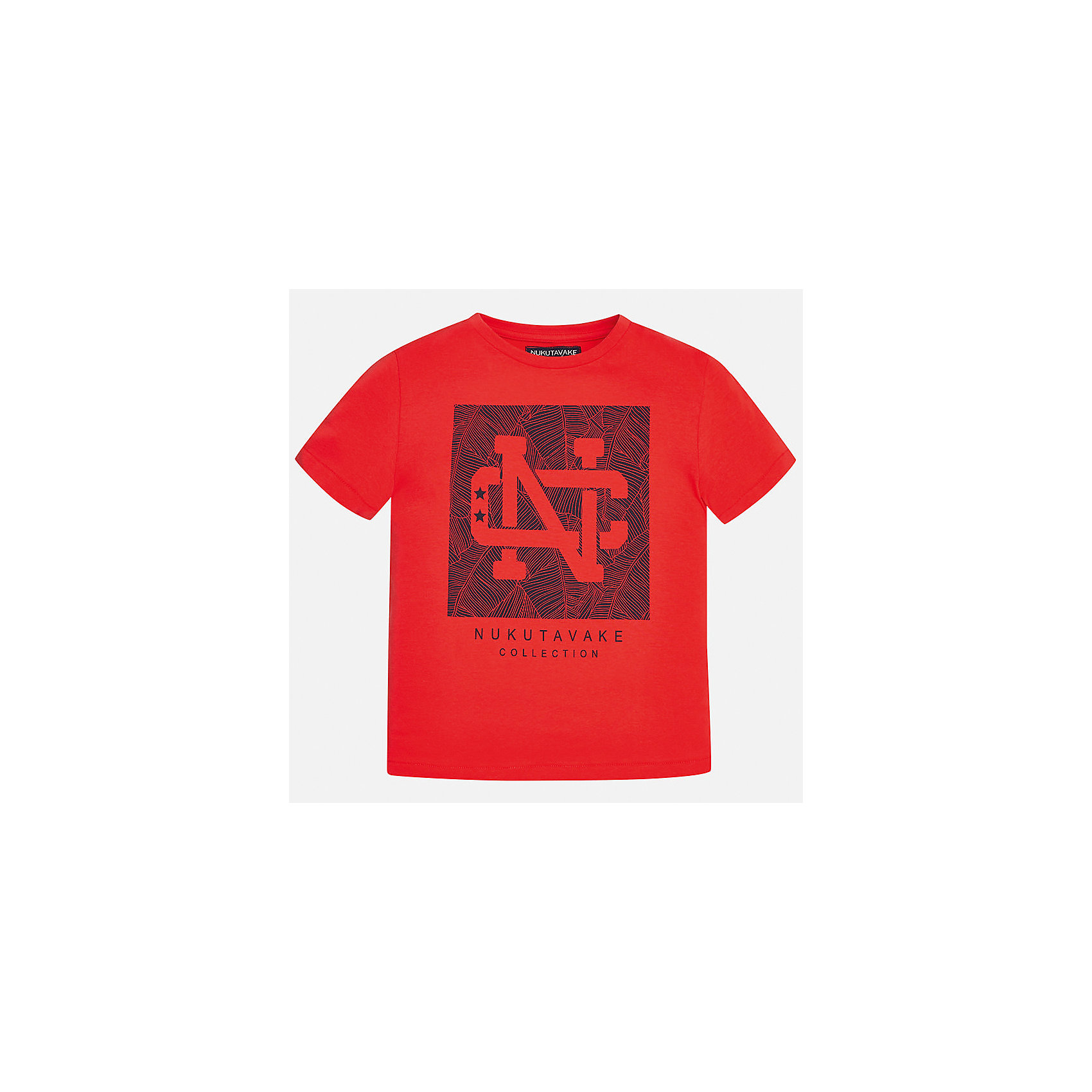 Футболка для мальчика MayoralФутболки, поло и топы<br>Характеристики товара:<br><br>• цвет: красный<br>• состав: 100% хлопок<br>• круглый горловой вырез<br>• декорирована принтом<br>• короткие рукава<br>• отделка горловины<br>• страна бренда: Испания<br><br>Стильная удобная футболка с принтом поможет разнообразить гардероб мальчика. Она отлично сочетается с брюками, шортами, джинсами. Универсальный крой и цвет позволяет подобрать к вещи низ разных расцветок. Практичное и стильное изделие! Хорошо смотрится и комфортно сидит на детях. В составе материала - натуральный хлопок, гипоаллергенный, приятный на ощупь, дышащий. <br><br>Одежда, обувь и аксессуары от испанского бренда Mayoral полюбились детям и взрослым по всему миру. Модели этой марки - стильные и удобные. Для их производства используются только безопасные, качественные материалы и фурнитура. Порадуйте ребенка модными и красивыми вещами от Mayoral! <br><br>Футболку для мальчика от испанского бренда Mayoral (Майорал) можно купить в нашем интернет-магазине.<br><br>Ширина мм: 199<br>Глубина мм: 10<br>Высота мм: 161<br>Вес г: 151<br>Цвет: розовый<br>Возраст от месяцев: 96<br>Возраст до месяцев: 108<br>Пол: Мужской<br>Возраст: Детский<br>Размер: 140,128/134,164,152,158,170<br>SKU: 5278293