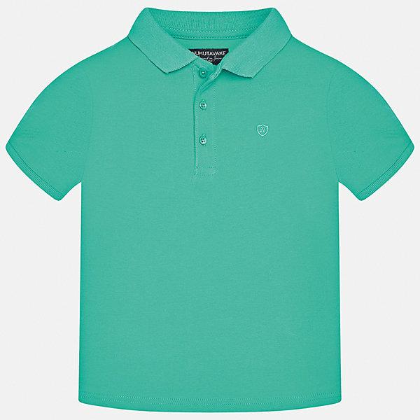 Футболка-поло для мальчика MayoralФутболки, поло и топы<br>Характеристики товара:<br><br>• цвет: зеленый<br>• состав: 100% хлопок<br>• отложной воротник<br>• короткие рукава<br>• застежка: пуговицы<br>• страна бренда: Испания<br><br>Удобная и модная футболка-поло для мальчика может стать базовой вещью в гардеробе ребенка. Она отлично сочетается с брюками, шортами, джинсами и т.д. Универсальный крой и цвет позволяет подобрать к вещи низ разных расцветок. Практичное и стильное изделие! В составе материала - только натуральный хлопок, гипоаллергенный, приятный на ощупь, дышащий.<br><br>Одежда, обувь и аксессуары от испанского бренда Mayoral полюбились детям и взрослым по всему миру. Модели этой марки - стильные и удобные. Для их производства используются только безопасные, качественные материалы и фурнитура. Порадуйте ребенка модными и красивыми вещами от Mayoral! <br><br>Футболку-поло для мальчика от испанского бренда Mayoral (Майорал) можно купить в нашем интернет-магазине.<br><br>Ширина мм: 230<br>Глубина мм: 40<br>Высота мм: 220<br>Вес г: 250<br>Цвет: зеленый<br>Возраст от месяцев: 84<br>Возраст до месяцев: 96<br>Пол: Мужской<br>Возраст: Детский<br>Размер: 128/134,170,140,164,152,158<br>SKU: 5278342