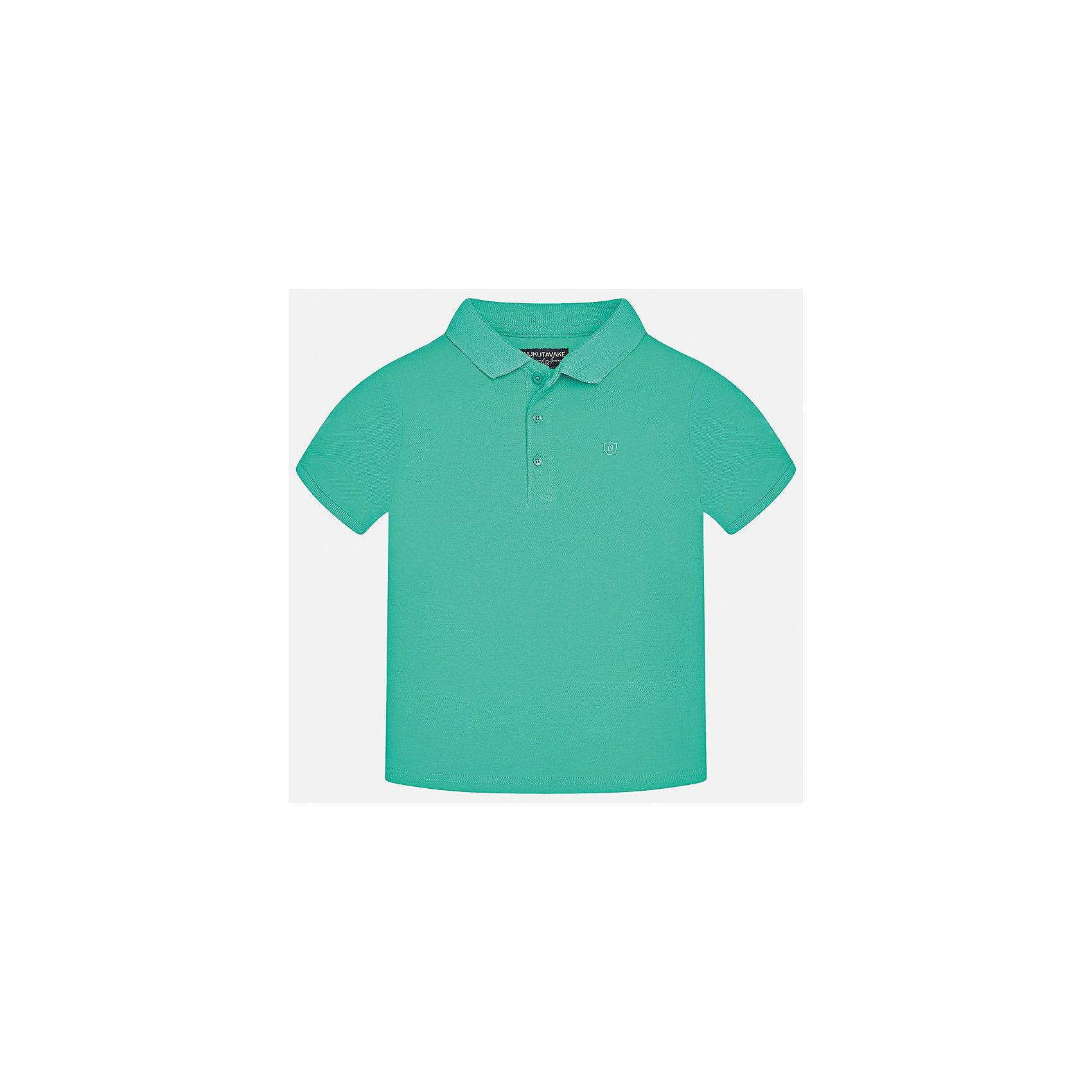 Футболка-поло для мальчика MayoralФутболки, поло и топы<br>Характеристики товара:<br><br>• цвет: зеленый<br>• состав: 100% хлопок<br>• отложной воротник<br>• короткие рукава<br>• застежка: пуговицы<br>• страна бренда: Испания<br><br>Удобная и модная футболка-поло для мальчика может стать базовой вещью в гардеробе ребенка. Она отлично сочетается с брюками, шортами, джинсами и т.д. Универсальный крой и цвет позволяет подобрать к вещи низ разных расцветок. Практичное и стильное изделие! В составе материала - только натуральный хлопок, гипоаллергенный, приятный на ощупь, дышащий.<br><br>Одежда, обувь и аксессуары от испанского бренда Mayoral полюбились детям и взрослым по всему миру. Модели этой марки - стильные и удобные. Для их производства используются только безопасные, качественные материалы и фурнитура. Порадуйте ребенка модными и красивыми вещами от Mayoral! <br><br>Футболку-поло для мальчика от испанского бренда Mayoral (Майорал) можно купить в нашем интернет-магазине.<br><br>Ширина мм: 230<br>Глубина мм: 40<br>Высота мм: 220<br>Вес г: 250<br>Цвет: зеленый<br>Возраст от месяцев: 156<br>Возраст до месяцев: 168<br>Пол: Мужской<br>Возраст: Детский<br>Размер: 170,140,158,152,128/134,164<br>SKU: 5278342