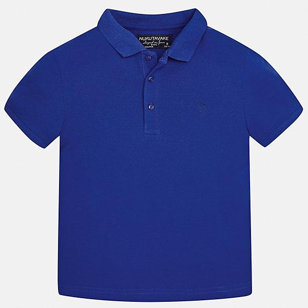 Футболка-поло для мальчика MayoralФутболки, поло и топы<br>Характеристики товара:<br><br>• цвет: синий<br>• состав: 100% хлопок<br>• отложной воротник<br>• короткие рукава<br>• застежка: пуговицы<br>• страна бренда: Испания<br><br>Удобная и модная футболка-поло для мальчика может стать базовой вещью в гардеробе ребенка. Она отлично сочетается с брюками, шортами, джинсами и т.д. Универсальный крой и цвет позволяет подобрать к вещи низ разных расцветок. Практичное и стильное изделие! В составе материала - только натуральный хлопок, гипоаллергенный, приятный на ощупь, дышащий.<br><br>Одежда, обувь и аксессуары от испанского бренда Mayoral полюбились детям и взрослым по всему миру. Модели этой марки - стильные и удобные. Для их производства используются только безопасные, качественные материалы и фурнитура. Порадуйте ребенка модными и красивыми вещами от Mayoral! <br><br>Футболку-поло для мальчика от испанского бренда Mayoral (Майорал) можно купить в нашем интернет-магазине.<br><br>Ширина мм: 230<br>Глубина мм: 40<br>Высота мм: 220<br>Вес г: 250<br>Цвет: синий<br>Возраст от месяцев: 84<br>Возраст до месяцев: 96<br>Пол: Мужской<br>Возраст: Детский<br>Размер: 128/134,170,140,152,158,164<br>SKU: 5278356