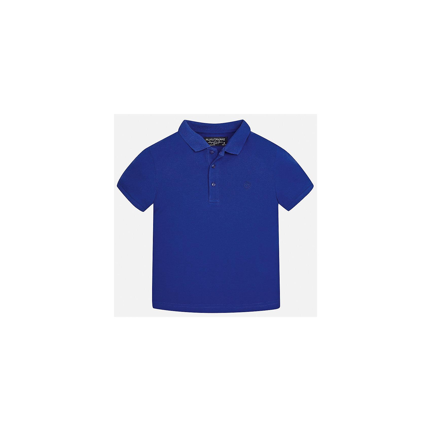 Футболка-поло для мальчика MayoralФутболки, поло и топы<br>Характеристики товара:<br><br>• цвет: синий<br>• состав: 100% хлопок<br>• отложной воротник<br>• короткие рукава<br>• застежка: пуговицы<br>• страна бренда: Испания<br><br>Удобная и модная футболка-поло для мальчика может стать базовой вещью в гардеробе ребенка. Она отлично сочетается с брюками, шортами, джинсами и т.д. Универсальный крой и цвет позволяет подобрать к вещи низ разных расцветок. Практичное и стильное изделие! В составе материала - только натуральный хлопок, гипоаллергенный, приятный на ощупь, дышащий.<br><br>Одежда, обувь и аксессуары от испанского бренда Mayoral полюбились детям и взрослым по всему миру. Модели этой марки - стильные и удобные. Для их производства используются только безопасные, качественные материалы и фурнитура. Порадуйте ребенка модными и красивыми вещами от Mayoral! <br><br>Футболку-поло для мальчика от испанского бренда Mayoral (Майорал) можно купить в нашем интернет-магазине.<br><br>Ширина мм: 230<br>Глубина мм: 40<br>Высота мм: 220<br>Вес г: 250<br>Цвет: синий<br>Возраст от месяцев: 84<br>Возраст до месяцев: 96<br>Пол: Мужской<br>Возраст: Детский<br>Размер: 128/134,170,164,158,152,140<br>SKU: 5278356