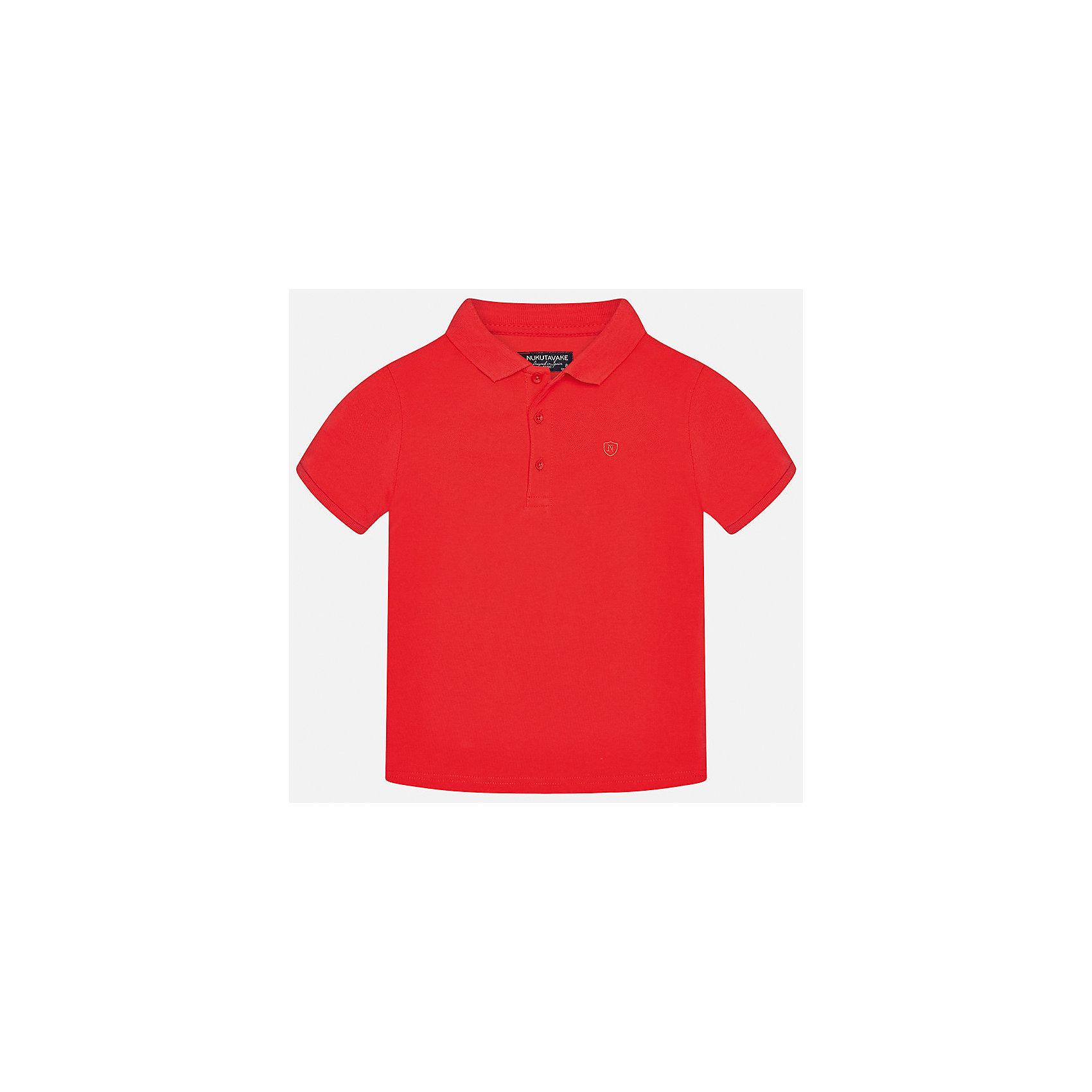 Футболка-поло для мальчика MayoralФутболки, поло и топы<br>Характеристики товара:<br><br>• цвет: красный<br>• состав: 100% хлопок<br>• отложной воротник<br>• короткие рукава<br>• застежка: пуговицы<br>• страна бренда: Испания<br><br>Удобная и модная футболка-поло для мальчика может стать базовой вещью в гардеробе ребенка. Она отлично сочетается с брюками, шортами, джинсами и т.д. Универсальный крой и цвет позволяет подобрать к вещи низ разных расцветок. Практичное и стильное изделие! В составе материала - только натуральный хлопок, гипоаллергенный, приятный на ощупь, дышащий.<br><br>Одежда, обувь и аксессуары от испанского бренда Mayoral полюбились детям и взрослым по всему миру. Модели этой марки - стильные и удобные. Для их производства используются только безопасные, качественные материалы и фурнитура. Порадуйте ребенка модными и красивыми вещами от Mayoral! <br><br>Футболку-поло для мальчика от испанского бренда Mayoral (Майорал) можно купить в нашем интернет-магазине.<br><br>Ширина мм: 230<br>Глубина мм: 40<br>Высота мм: 220<br>Вес г: 250<br>Цвет: розовый<br>Возраст от месяцев: 120<br>Возраст до месяцев: 132<br>Пол: Мужской<br>Возраст: Детский<br>Размер: 152,140,128/134,170,164,158<br>SKU: 5278363