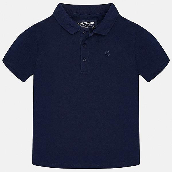 Футболка-поло для мальчика MayoralФутболки, поло и топы<br>Характеристики товара:<br><br>• цвет: темно-синий<br>• состав: 100% хлопок<br>• отложной воротник<br>• короткие рукава<br>• застежка: пуговицы<br>• страна бренда: Испания<br><br>Удобная и модная футболка-поло для мальчика может стать базовой вещью в гардеробе ребенка. Она отлично сочетается с брюками, шортами, джинсами и т.д. Универсальный крой и цвет позволяет подобрать к вещи низ разных расцветок. Практичное и стильное изделие! В составе материала - только натуральный хлопок, гипоаллергенный, приятный на ощупь, дышащий.<br><br>Одежда, обувь и аксессуары от испанского бренда Mayoral полюбились детям и взрослым по всему миру. Модели этой марки - стильные и удобные. Для их производства используются только безопасные, качественные материалы и фурнитура. Порадуйте ребенка модными и красивыми вещами от Mayoral! <br><br>Футболку-поло для мальчика от испанского бренда Mayoral (Майорал) можно купить в нашем интернет-магазине.<br>Ширина мм: 230; Глубина мм: 40; Высота мм: 220; Вес г: 250; Цвет: синий; Возраст от месяцев: 84; Возраст до месяцев: 96; Пол: Мужской; Возраст: Детский; Размер: 128/134,170,140,152,158,164; SKU: 5278370;