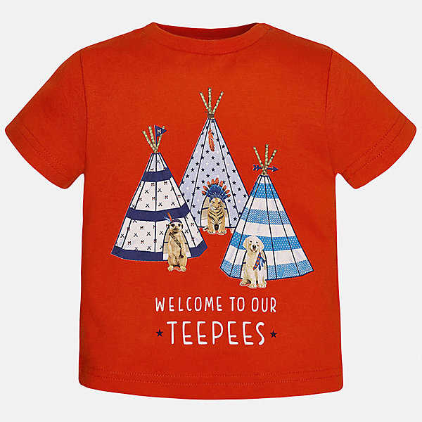 Футболка для мальчика MayoralФутболки, топы<br>Характеристики товара:<br><br>• цвет: красный<br>• состав: 100% хлопок<br>• круглый горловой вырез<br>• декорирована принтом<br>• короткие рукава<br>• мягкая отделка горловины<br>• страна бренда: Испания<br><br>Стильная удобная футболка с принтом поможет разнообразить гардероб мальчика. Она отлично сочетается с брюками, шортами, джинсами. Универсальный крой и цвет позволяет подобрать к вещи низ разных расцветок. Практичное и стильное изделие! Хорошо смотрится и комфортно сидит на детях. В составе материала - натуральный хлопок, гипоаллергенный, приятный на ощупь, дышащий. <br><br>Одежда, обувь и аксессуары от испанского бренда Mayoral полюбились детям и взрослым по всему миру. Модели этой марки - стильные и удобные. Для их производства используются только безопасные, качественные материалы и фурнитура. Порадуйте ребенка модными и красивыми вещами от Mayoral! <br><br>Футболку для мальчика от испанского бренда Mayoral (Майорал) можно купить в нашем интернет-магазине.<br><br>Ширина мм: 199<br>Глубина мм: 10<br>Высота мм: 161<br>Вес г: 151<br>Цвет: красный<br>Возраст от месяцев: 12<br>Возраст до месяцев: 18<br>Пол: Мужской<br>Возраст: Детский<br>Размер: 86,80,92<br>SKU: 5278409