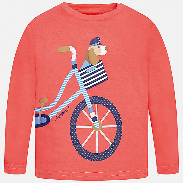 Футболка с длинным рукавом для мальчика MayoralФутболки с длинным рукавом<br>Характеристики товара:<br><br>• цвет: оранжевый<br>• состав: 100% хлопок<br>• округлый горловой вырез<br>• декорирована принтом<br>• длинные рукава<br>• мягкая отделка горловины<br>• страна бренда: Испания<br><br>Красивая хлопковая футболка с принтом поможет разнообразить гардероб мальчика. Она отлично сочетается с брюками, шортами, джинсами. Универсальный крой и цвет позволяет подобрать к вещи низ разных расцветок. Практичное и стильное изделие! Хорошо смотрится и комфортно сидит на детях. В составе материала - только натуральный хлопок, гипоаллергенный, приятный на ощупь, дышащий. <br><br>Одежда, обувь и аксессуары от испанского бренда Mayoral полюбились детям и взрослым по всему миру. Модели этой марки - стильные и удобные. Для их производства используются только безопасные, качественные материалы и фурнитура. Порадуйте ребенка модными и красивыми вещами от Mayoral! <br><br>Футболку с длинным рукавом для мальчика от испанского бренда Mayoral (Майорал) можно купить в нашем интернет-магазине.<br>Ширина мм: 230; Глубина мм: 40; Высота мм: 220; Вес г: 250; Цвет: розовый; Возраст от месяцев: 12; Возраст до месяцев: 18; Пол: Мужской; Возраст: Детский; Размер: 86,80,92; SKU: 5278521;