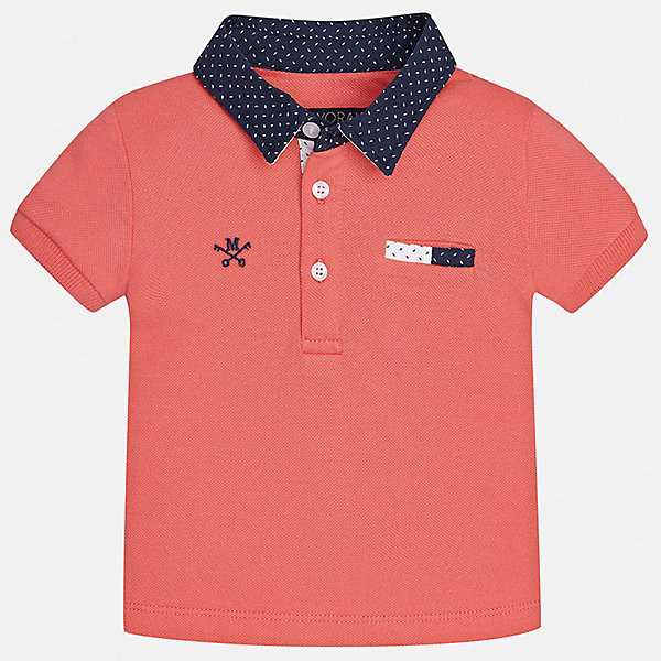 Футболка-поло для мальчика MayoralФутболки, топы<br>Характеристики товара:<br><br>• цвет: красный<br>• состав: 100% хлопок<br>• отложной воротник<br>• короткие рукава<br>• застежка: пуговицы<br>• декорирована вышивкой<br>• страна бренда: Испания<br><br>Футболка-поло для мальчика может стать базовой вещью в гардеробе ребенка. Она отлично сочетается с брюками, шортами, джинсами и т.д. Универсальный крой и цвет позволяет подобрать к вещи низ разных расцветок. Практичное и стильное изделие! В составе материала - только натуральный хлопок, гипоаллергенный, приятный на ощупь, дышащий.<br><br>Одежда, обувь и аксессуары от испанского бренда Mayoral полюбились детям и взрослым по всему миру. Модели этой марки - стильные и удобные. Для их производства используются только безопасные, качественные материалы и фурнитура. Порадуйте ребенка модными и красивыми вещами от Mayoral! <br><br>Футболку-поло для мальчика от испанского бренда Mayoral (Майорал) можно купить в нашем интернет-магазине.<br>Ширина мм: 199; Глубина мм: 10; Высота мм: 161; Вес г: 151; Цвет: розовый; Возраст от месяцев: 18; Возраст до месяцев: 24; Пол: Мужской; Возраст: Детский; Размер: 92,80,86; SKU: 5279402;