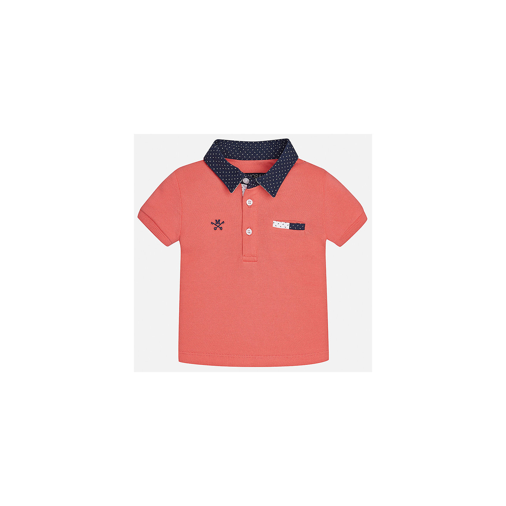 Футболка-поло для мальчика MayoralФутболки, поло и топы<br>Характеристики товара:<br><br>• цвет: красный<br>• состав: 100% хлопок<br>• отложной воротник<br>• короткие рукава<br>• застежка: пуговицы<br>• декорирована вышивкой<br>• страна бренда: Испания<br><br>Футболка-поло для мальчика может стать базовой вещью в гардеробе ребенка. Она отлично сочетается с брюками, шортами, джинсами и т.д. Универсальный крой и цвет позволяет подобрать к вещи низ разных расцветок. Практичное и стильное изделие! В составе материала - только натуральный хлопок, гипоаллергенный, приятный на ощупь, дышащий.<br><br>Одежда, обувь и аксессуары от испанского бренда Mayoral полюбились детям и взрослым по всему миру. Модели этой марки - стильные и удобные. Для их производства используются только безопасные, качественные материалы и фурнитура. Порадуйте ребенка модными и красивыми вещами от Mayoral! <br><br>Футболку-поло для мальчика от испанского бренда Mayoral (Майорал) можно купить в нашем интернет-магазине.<br><br>Ширина мм: 199<br>Глубина мм: 10<br>Высота мм: 161<br>Вес г: 151<br>Цвет: розовый<br>Возраст от месяцев: 18<br>Возраст до месяцев: 24<br>Пол: Мужской<br>Возраст: Детский<br>Размер: 92,86,80<br>SKU: 5279402
