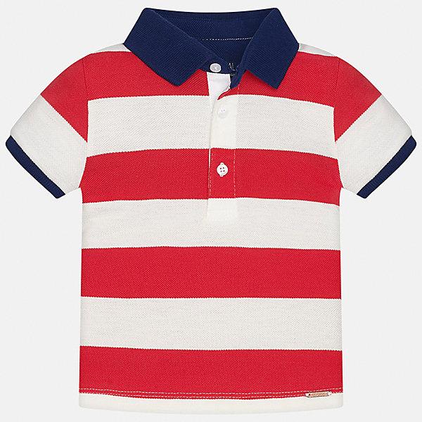 Футболка-поло для мальчика MayoralФутболки, поло и топы<br>Характеристики товара:<br><br>• цвет: белый/красный<br>• состав: 100% хлопок<br>• отложной воротник<br>• короткие рукава<br>• застежка: пуговицы<br>• декорирована вышивкой<br>• страна бренда: Испания<br><br>Модная рубашка-поло для мальчика может стать базовой вещью в гардеробе ребенка. Она отлично сочетается с брюками, шортами, джинсами и т.д. Универсальный крой и цвет позволяет подобрать к вещи низ разных расцветок. Практичное и стильное изделие! В составе материала - только натуральный хлопок, гипоаллергенный, приятный на ощупь, дышащий.<br><br>Рубашку-поло для мальчика от испанского бренда Mayoral (Майорал) можно купить в нашем интернет-магазине.<br><br>Ширина мм: 230<br>Глубина мм: 40<br>Высота мм: 220<br>Вес г: 250<br>Цвет: красный<br>Возраст от месяцев: 18<br>Возраст до месяцев: 24<br>Пол: Мужской<br>Возраст: Детский<br>Размер: 92,80,86<br>SKU: 5279430