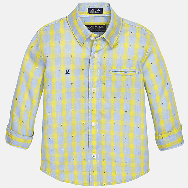 Рубашка для мальчика MayoralБлузки и рубашки<br>Характеристики товара:<br><br>• цвет: жёлтый<br>• состав: 100% хлопок<br>• отложной воротник<br>• в клетку<br>• застежка: пуговицы<br>• рукава с отворотами<br>• вышивка и карман на груди<br>• страна бренда: Испания<br><br>Стильная рубашка для мальчика может стать базовой вещью в гардеробе ребенка. Она отлично сочетается с брюками, шортами, джинсами и т.д.  Практичное и стильное изделие! В составе материала - только натуральный хлопок, гипоаллергенный, приятный на ощупь, дышащий.<br><br>Рубашку для мальчика от испанского бренда Mayoral (Майорал) можно купить в нашем интернет-магазине.<br><br>Ширина мм: 174<br>Глубина мм: 10<br>Высота мм: 169<br>Вес г: 157<br>Цвет: желтый<br>Возраст от месяцев: 12<br>Возраст до месяцев: 18<br>Пол: Мужской<br>Возраст: Детский<br>Размер: 86,92,80<br>SKU: 5279481