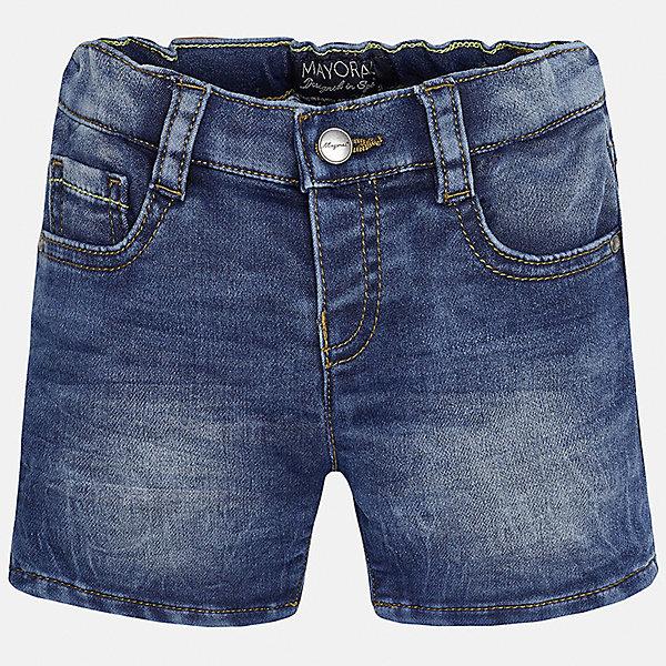 Бриджи джинсовые для мальчика MayoralШорты и бриджи<br>Характеристики товара:<br><br>• цвет: синий<br>• состав: 52% хлопок, 47% полиэстер, 1% эластан<br>• шлевки<br>• карманы<br>• пояс с регулировкой объема<br>• эффект потертости<br>• страна бренда: Испания<br><br>Модные бриджи для мальчика смогут стать базовой вещью в гардеробе ребенка. Они отлично сочетаются с майками, футболками, рубашками и т.д. Универсальный крой и цвет позволяет подобрать к вещи верх разных расцветок. Практичное и стильное изделие! В составе материала - натуральный хлопок, гипоаллергенный, приятный на ощупь, дышащий.<br><br>Одежда, обувь и аксессуары от испанского бренда Mayoral полюбились детям и взрослым по всему миру. Модели этой марки - стильные и удобные. Для их производства используются только безопасные, качественные материалы и фурнитура. Порадуйте ребенка модными и красивыми вещами от Mayoral! <br><br>Бриджи для мальчика от испанского бренда Mayoral (Майорал) можно купить в нашем интернет-магазине.<br>Ширина мм: 191; Глубина мм: 10; Высота мм: 175; Вес г: 273; Цвет: синий; Возраст от месяцев: 18; Возраст до месяцев: 24; Пол: Мужской; Возраст: Детский; Размер: 92,80,86; SKU: 5279495;