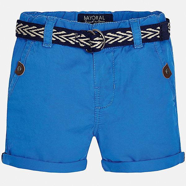 Шорты для мальчика MayoralШорты и бриджи<br>Характеристики товара:<br><br>• цвет: синий<br>• состав: 100% хлопок<br>• шлевки<br>• карманы<br>• пояс с регулировкой объема<br>• нашивка с логотипом<br>• страна бренда: Испания<br><br>Модные шорты для мальчика смогут стать базовой вещью в гардеробе ребенка. Они отлично сочетаются с майками, футболками, рубашками и т.д. Универсальный крой и цвет позволяет подобрать к вещи верх разных расцветок. Практичное и стильное изделие! В составе материала - только натуральный хлопок, гипоаллергенный, приятный на ощупь, дышащий.<br><br>Одежда, обувь и аксессуары от испанского бренда Mayoral полюбились детям и взрослым по всему миру. Модели этой марки - стильные и удобные. Для их производства используются только безопасные, качественные материалы и фурнитура. Порадуйте ребенка модными и красивыми вещами от Mayoral! <br><br>Шорты для мальчика от испанского бренда Mayoral (Майорал) можно купить в нашем интернет-магазине.<br>Ширина мм: 191; Глубина мм: 10; Высота мм: 175; Вес г: 273; Цвет: синий; Возраст от месяцев: 12; Возраст до месяцев: 15; Пол: Мужской; Возраст: Детский; Размер: 80,92,86; SKU: 5279507;