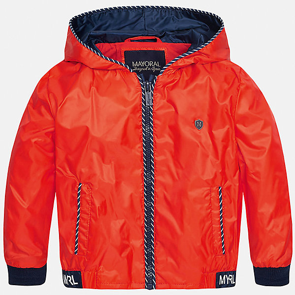 Ветровка для мальчика MayoralВерхняя одежда<br>Характеристики товара:<br><br>• цвет: красный<br>• состав: 100% полиэстер, подкладка - 100% хлопок<br>• манжеты <br>• карманы<br>• молния<br>• капюшон<br>• страна бренда: Испания<br><br>Легкая ветровка для мальчика поможет разнообразить гардероб ребенка и обеспечить тепло в прохладную погоду. Она отлично сочетается и с джинсами, и с брюками. Универсальный цвет позволяет подобрать к вещи низ различных расцветок. Интересная отделка модели делает её нарядной и оригинальной. В составе материала подкладки - натуральный хлопок, гипоаллергенный, приятный на ощупь, дышащий.<br><br>Одежда, обувь и аксессуары от испанского бренда Mayoral полюбились детям и взрослым по всему миру. Модели этой марки - стильные и удобные. Для их производства используются только безопасные, качественные материалы и фурнитура. Порадуйте ребенка модными и красивыми вещами от Mayoral! <br><br>Ветровку для мальчика от испанского бренда Mayoral (Майорал) можно купить в нашем интернет-магазине.<br><br>Ширина мм: 356<br>Глубина мм: 10<br>Высота мм: 245<br>Вес г: 519<br>Цвет: красный<br>Возраст от месяцев: 12<br>Возраст до месяцев: 15<br>Пол: Мужской<br>Возраст: Детский<br>Размер: 80,92,86<br>SKU: 5279616