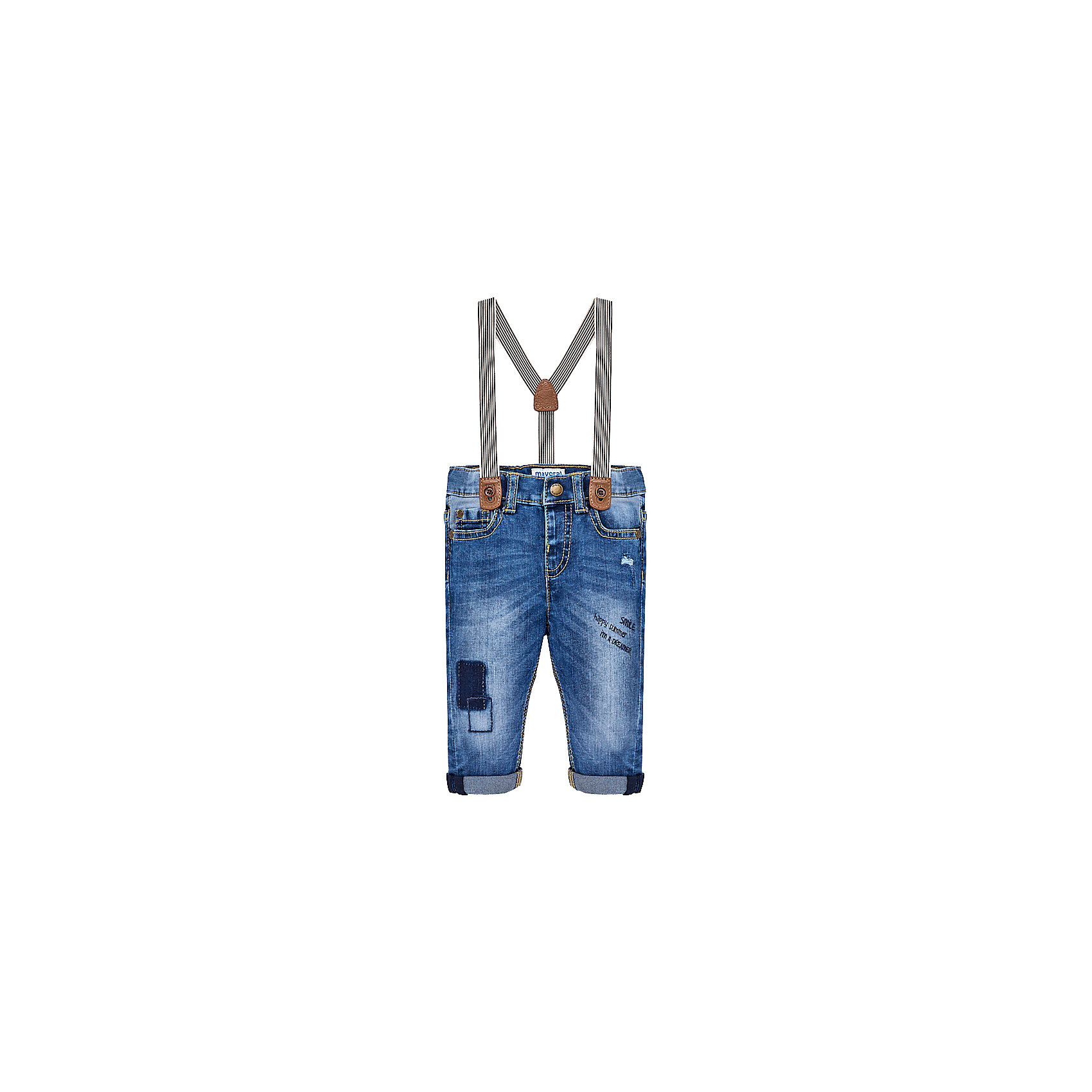 Брюки для мальчика MayoralДжинсы и брючки<br>Характеристики товара:<br><br>• цвет: темно-синий<br>• состав: 100% хлопок<br>• ремень в комплекте<br>• шлевки<br>• карманы<br>• пояс с регулировкой объема<br>• классический силуэт<br>• страна бренда: Испания<br><br>Модные брюки для мальчика смогут стать базовой вещью в гардеробе ребенка. Они отлично сочетаются с майками, футболками, рубашками и т.д. Универсальный крой и цвет позволяет подобрать к вещи верх разных расцветок. Практичное и стильное изделие! В составе материала - натуральный хлопок, гипоаллергенный, приятный на ощупь, дышащий.<br><br>Одежда, обувь и аксессуары от испанского бренда Mayoral полюбились детям и взрослым по всему миру. Модели этой марки - стильные и удобные. Для их производства используются только безопасные, качественные материалы и фурнитура. Порадуйте ребенка модными и красивыми вещами от Mayoral! <br><br>Брюки для мальчика от испанского бренда Mayoral (Майорал) можно купить в нашем интернет-магазине.<br><br>Ширина мм: 215<br>Глубина мм: 88<br>Высота мм: 191<br>Вес г: 336<br>Цвет: синий<br>Возраст от месяцев: 12<br>Возраст до месяцев: 15<br>Пол: Мужской<br>Возраст: Детский<br>Размер: 80,92,86<br>SKU: 5279637