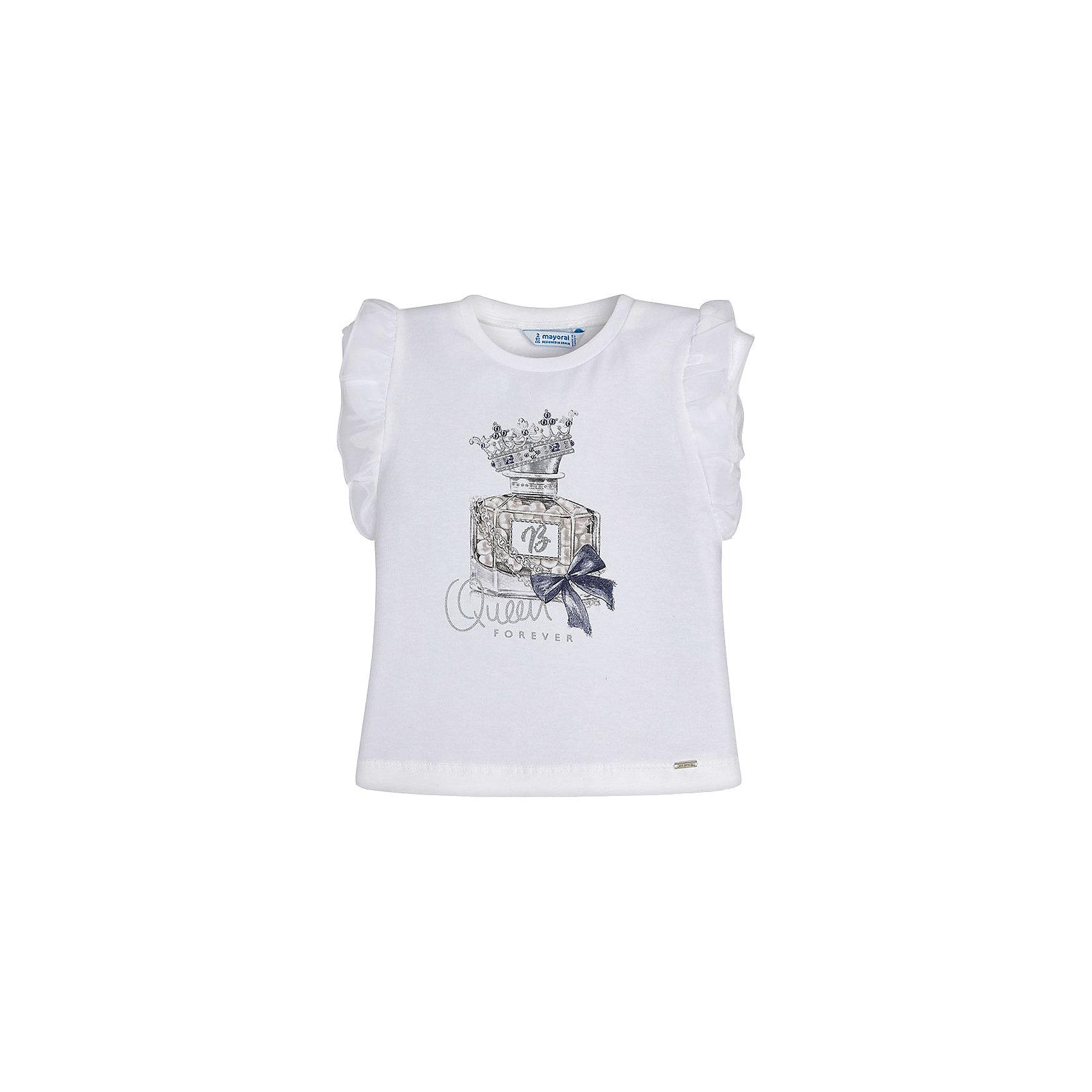 Футболка для мальчика MayoralФутболки, поло и топы<br>Характеристики товара:<br><br>• цвет: белый/персиковый<br>• состав: 100% хлопок<br>• круглый горловой вырез<br>• декорирована принтом<br>• короткие рукава<br>• отделка горловины<br>• страна бренда: Испания<br><br>Модная удобная футболка с принтом поможет разнообразить гардероб мальчика. Она отлично сочетается с брюками, шортами, джинсами. Универсальный крой и цвет позволяет подобрать к вещи низ разных расцветок. Практичное и стильное изделие! Хорошо смотрится и комфортно сидит на детях. В составе материала - только натуральный хлопок, гипоаллергенный, приятный на ощупь, дышащий. <br><br>Одежда, обувь и аксессуары от испанского бренда Mayoral полюбились детям и взрослым по всему миру. Модели этой марки - стильные и удобные. Для их производства используются только безопасные, качественные материалы и фурнитура. Порадуйте ребенка модными и красивыми вещами от Mayoral! <br><br>Футболку для мальчика от испанского бренда Mayoral (Майорал) можно купить в нашем интернет-магазине.<br><br>Ширина мм: 199<br>Глубина мм: 10<br>Высота мм: 161<br>Вес г: 151<br>Цвет: оранжевый<br>Возраст от месяцев: 48<br>Возраст до месяцев: 60<br>Пол: Мужской<br>Возраст: Детский<br>Размер: 110,134,128,122,116,98,92,104<br>SKU: 5279854