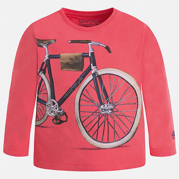 Футболка с длинным рукавом для мальчика MayoralФутболки с длинным рукавом<br>Характеристики товара:<br><br>• цвет: розовый<br>• состав: 100% хлопок<br>• круглый горловой вырез<br>• декорирована принтом<br>• длинные рукава<br>• отделка горловины<br>• страна бренда: Испания<br><br>Удобная модная футболка с принтом поможет разнообразить гардероб мальчика. Она отлично сочетается с брюками, шортами, джинсами. Универсальный крой и цвет позволяет подобрать к вещи низ разных расцветок. Практичное и стильное изделие! Хорошо смотрится и комфортно сидит на детях. В составе материала - только натуральный хлопок, гипоаллергенный, приятный на ощупь, дышащий. <br><br>Одежда, обувь и аксессуары от испанского бренда Mayoral полюбились детям и взрослым по всему миру. Модели этой марки - стильные и удобные. Для их производства используются только безопасные, качественные материалы и фурнитура. Порадуйте ребенка модными и красивыми вещами от Mayoral! <br><br>Футболку с длинным рукавом для мальчика от испанского бренда Mayoral (Майорал) можно купить в нашем интернет-магазине.<br><br>Ширина мм: 230<br>Глубина мм: 40<br>Высота мм: 220<br>Вес г: 250<br>Цвет: розовый<br>Возраст от месяцев: 84<br>Возраст до месяцев: 96<br>Пол: Мужской<br>Возраст: Детский<br>Размер: 128,110,134,122,92,98,104,116<br>SKU: 5280219
