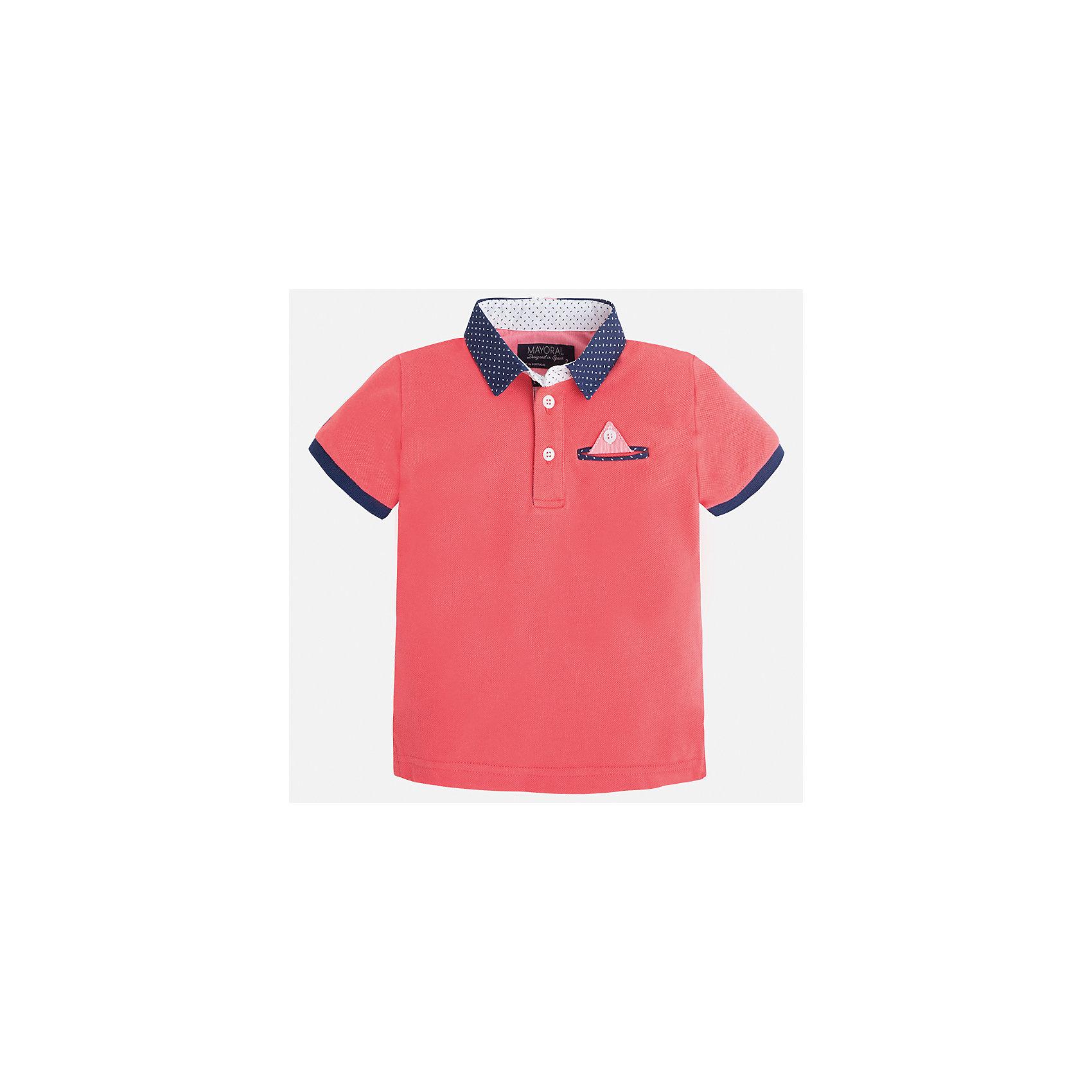 Футболка-поло для мальчика MayoralФутболки, поло и топы<br>Характеристики товара:<br><br>• цвет: розовый<br>• состав: 100% хлопок<br>• отложной воротник<br>• короткие рукава<br>• застежка: пуговицы<br>• карман на груди<br>• страна бренда: Испания<br><br>Модная футболка-поло для мальчика может стать базовой вещью в гардеробе ребенка. Она отлично сочетается с брюками, шортами, джинсами и т.д. Универсальный крой и цвет позволяет подобрать к вещи низ разных расцветок. Практичное и стильное изделие! В составе материала - только натуральный хлопок, гипоаллергенный, приятный на ощупь, дышащий.<br>Одежда, обувь и аксессуары от испанского бренда Mayoral полюбились детям и взрослым по всему миру. Модели этой марки - стильные и удобные. Для их производства используются только безопасные, качественные материалы и фурнитура. Порадуйте ребенка модными и красивыми вещами от Mayoral! <br><br>Футболку-поло для мальчика от испанского бренда Mayoral (Майорал) можно купить в нашем интернет-магазине.<br><br>Ширина мм: 230<br>Глубина мм: 40<br>Высота мм: 220<br>Вес г: 250<br>Цвет: розовый<br>Возраст от месяцев: 36<br>Возраст до месяцев: 48<br>Пол: Мужской<br>Возраст: Детский<br>Размер: 104,134,128,122,116,110,98,92<br>SKU: 5280318