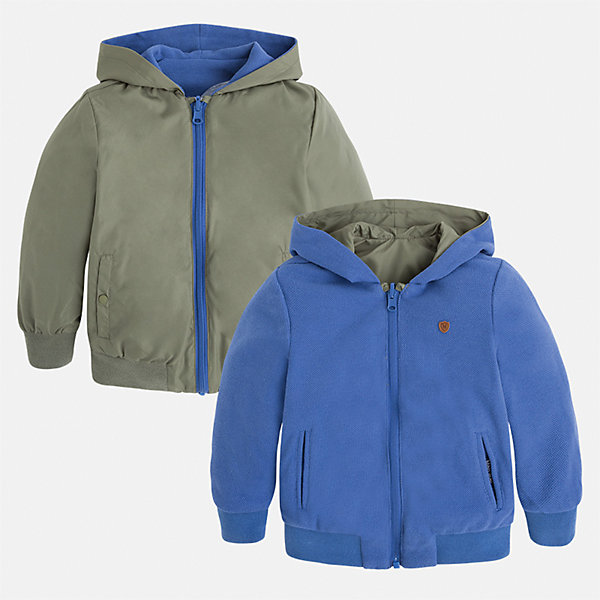 Куртка двухсторонняя для мальчика MayoralВерхняя одежда<br>Характеристики товара:<br><br>• цвет: зеленый/голубой<br>• состав: 100% полиэстер, подкладка - 60% хлопок, 40% полиэстер<br>• температурный режим: от +20°до +10°С<br>• двусторонняя<br>• карманы<br>• молния<br>• капюшон<br>• страна бренда: Испания<br><br>Легкая куртка для мальчика поможет разнообразить гардероб ребенка и обеспечить тепло в прохладную погоду. Эта ветровка - два в одном: стоит её вывернуть - и появляется еще одна курточка другой расцветки. Она отлично сочетается и с джинсами, и с брюками. Универсальный цвет позволяет подобрать к вещи низ различных расцветок. Интересная отделка модели делает её нарядной и оригинальной. <br><br>Одежда, обувь и аксессуары от испанского бренда Mayoral полюбились детям и взрослым по всему миру. Модели этой марки - стильные и удобные. Для их производства используются только безопасные, качественные материалы и фурнитура. Порадуйте ребенка модными и красивыми вещами от Mayoral! <br><br>Куртку для мальчика от испанского бренда Mayoral (Майорал) можно купить в нашем интернет-магазине.<br>Ширина мм: 356; Глубина мм: 10; Высота мм: 245; Вес г: 519; Цвет: коричневый; Возраст от месяцев: 36; Возраст до месяцев: 48; Пол: Мужской; Возраст: Детский; Размер: 104,110,116,92,122,134,98,128; SKU: 5280558;