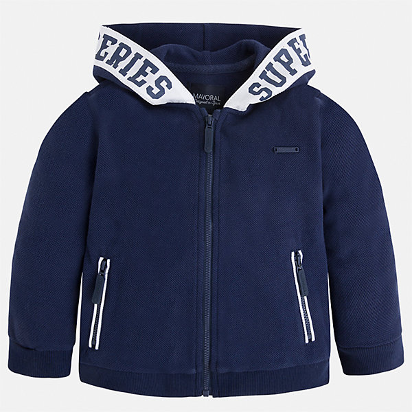 Куртка для мальчика MayoralТолстовки<br>Характеристики товара:<br><br>• цвет: синий<br>• состав: 100% хлопок<br>• манжеты<br>• карманы<br>• молния<br>• капюшон<br>• страна бренда: Испания<br><br>Легкая куртка для мальчика поможет разнообразить гардероб ребенка и обеспечить тепло в прохладную погоду. Она отлично сочетается и с джинсами, и с брюками. Универсальный цвет позволяет подобрать к вещи низ различных расцветок. Интересная отделка модели делает её нарядной и оригинальной. В составе материала - только натуральный хлопок, гипоаллергенный, приятный на ощупь, дышащий.<br><br>Одежда, обувь и аксессуары от испанского бренда Mayoral полюбились детям и взрослым по всему миру. Модели этой марки - стильные и удобные. Для их производства используются только безопасные, качественные материалы и фурнитура. Порадуйте ребенка модными и красивыми вещами от Mayoral! <br><br>Куртку для мальчика от испанского бренда Mayoral (Майорал) можно купить в нашем интернет-магазине.<br>Ширина мм: 356; Глубина мм: 10; Высота мм: 245; Вес г: 519; Цвет: синий; Возраст от месяцев: 24; Возраст до месяцев: 36; Пол: Мужской; Возраст: Детский; Размер: 98,92,134,122,128,116,110,104; SKU: 5280639;