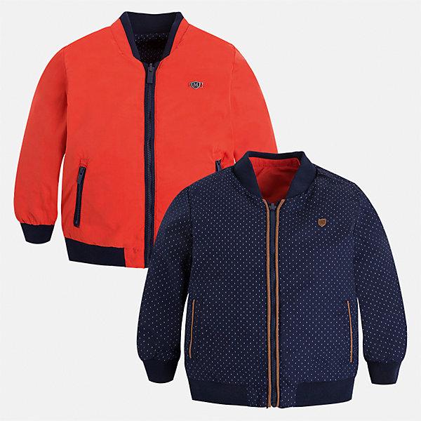 Ветровка двухсторонняя для мальчика MayoralВерхняя одежда<br>Характеристики товара:<br><br>• цвет: синий/красный<br>• состав: 100% полиэстер, подкладка - 100% хлопок<br>• температурный режим: от +10° С<br>• двусторонняя<br>• карманы<br>• молния<br>• манжеты<br>• страна бренда: Испания<br><br>Легкая куртка для мальчика поможет разнообразить гардероб ребенка и обеспечить тепло в прохладную погоду. Эта ветровка - два в одном: стоит её вывернуть - и появляется еще одна курточка другой расцветки. Интересная отделка модели делает её нарядной и оригинальной. <br><br>Ветровку для мальчика от испанского бренда Mayoral (Майорал) можно купить в нашем интернет-магазине.<br>Ширина мм: 356; Глубина мм: 10; Высота мм: 245; Вес г: 519; Цвет: красный; Возраст от месяцев: 18; Возраст до месяцев: 24; Пол: Мужской; Возраст: Детский; Размер: 92,128,134,98,104,110,116,122; SKU: 5280684;