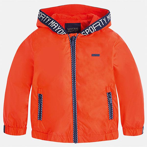 Ветровка для мальчика MayoralВерхняя одежда<br>Характеристики товара:<br><br>• цвет: красный<br>• состав: 100% полиэстер, подкладка - 100% хлопок<br>• температурный режим: от +20° до +10°С<br>• рукава длинные <br>• карманы<br>• молния <br>• капюшон<br>• страна бренда: Испания<br><br>Теплая одежда может быть очень стильной! Удобная и красивая ветровка для мальчика поможет разнообразить гардероб ребенка и обеспечить комфорт. Она отлично сочетается и с джинсами, и с брюками. Универсальный цвет позволяет подобрать к вещи низ различных расцветок. Интересная отделка модели делает её нарядной и оригинальной. В составе материала - натуральный хлопок, гипоаллергенный, приятный на ощупь, дышащий.<br><br>Одежда, обувь и аксессуары от испанского бренда Mayoral полюбились детям и взрослым по всему миру. Модели этой марки - стильные и удобные. Для их производства используются только безопасные, качественные материалы и фурнитура. Порадуйте ребенка модными и красивыми вещами от Mayoral! <br><br>Ветровку для мальчика от испанского бренда Mayoral (Майорал) можно купить в нашем интернет-магазине.<br>Ширина мм: 356; Глубина мм: 10; Высота мм: 245; Вес г: 519; Цвет: красный; Возраст от месяцев: 48; Возраст до месяцев: 60; Пол: Мужской; Возраст: Детский; Размер: 110,134,92,98,104,116,128,122; SKU: 5280756;