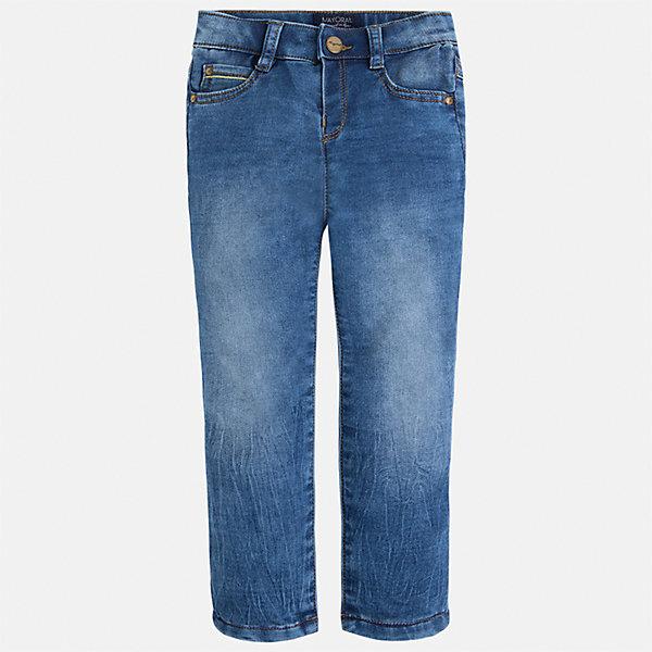 Джинсы для мальчика MayoralДжинсовая одежда<br>Характеристики товара:<br><br>• цвет: синий<br>• состав: 52% хлопок, 47% полиэстер, 1% эластан<br>• имитация потертостей<br>• шлевки<br>• карманы<br>• пояс с регулировкой объема<br>• классический силуэт<br>• страна бренда: Испания<br><br>Модные джинсы для мальчика смогут стать базовой вещью в гардеробе ребенка. Они отлично сочетаются с майками, футболками, рубашками и т.д. Универсальный крой и цвет позволяет подобрать к вещи верх разных расцветок. Практичное и стильное изделие! В составе материала - натуральный хлопок, гипоаллергенный, приятный на ощупь, дышащий.<br><br>Одежда, обувь и аксессуары от испанского бренда Mayoral полюбились детям и взрослым по всему миру. Модели этой марки - стильные и удобные. Для их производства используются только безопасные, качественные материалы и фурнитура. Порадуйте ребенка модными и красивыми вещами от Mayoral! <br><br>Джинсы для мальчика от испанского бренда Mayoral (Майорал) можно купить в нашем интернет-магазине.<br>Ширина мм: 215; Глубина мм: 88; Высота мм: 191; Вес г: 336; Цвет: синий; Возраст от месяцев: 18; Возраст до месяцев: 24; Пол: Мужской; Возраст: Детский; Размер: 122,128,92,134,110,98,104,116; SKU: 5280810;