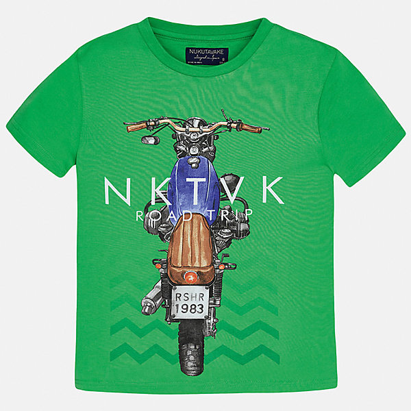 Футболка для мальчика MayoralФутболки, поло и топы<br>Характеристики товара:<br><br>• цвет: зеленый<br>• состав: 100% хлопок<br>• круглый горловой вырез<br>• декорирована принтом<br>• короткие рукава<br>• мягкая отделка горловины<br>• страна бренда: Испания<br><br>Модная удобная футболка с принтом поможет разнообразить гардероб мальчика. Она отлично сочетается с брюками, шортами, джинсами. Универсальный крой и цвет позволяет подобрать к вещи низ разных расцветок. Практичное и стильное изделие! Хорошо смотрится и комфортно сидит на детях. В составе материала - только натуральный хлопок, гипоаллергенный, приятный на ощупь, дышащий. <br><br>Одежда, обувь и аксессуары от испанского бренда Mayoral полюбились детям и взрослым по всему миру. Модели этой марки - стильные и удобные. Для их производства используются только безопасные, качественные материалы и фурнитура. Порадуйте ребенка модными и красивыми вещами от Mayoral! <br><br>Футболку для мальчика от испанского бренда Mayoral (Майорал) можно купить в нашем интернет-магазине.<br>Ширина мм: 199; Глубина мм: 10; Высота мм: 161; Вес г: 151; Цвет: зеленый; Возраст от месяцев: 84; Возраст до месяцев: 96; Пол: Мужской; Возраст: Детский; Размер: 128/134,170,164,158,152,140; SKU: 5281258;