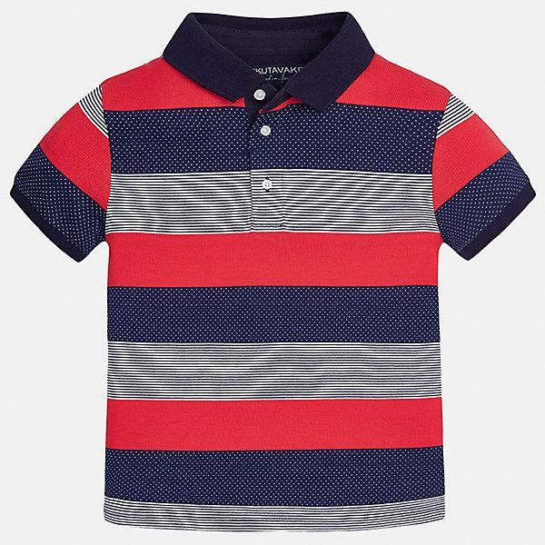 Футболка-поло для мальчика MayoralФутболки, поло и топы<br>Характеристики товара:<br><br>• цвет: красный/синий/серый<br>• состав: 100% хлопок<br>• отложной воротник<br>• декорирована вышивкой<br>• короткие рукава<br>• застежки: пуговицы<br>• страна бренда: Испания<br><br>Удобная стильная футболка-поло поможет разнообразить гардероб мальчика. Она отлично сочетается с брюками, шортами, джинсами. Универсальный крой и цвет позволяет подобрать к вещи низ разных расцветок. Практичное и стильное изделие! Хорошо смотрится и комфортно сидит на детях. В составе материала - только натуральный хлопок, гипоаллергенный, приятный на ощупь, дышащий. <br><br>Одежда, обувь и аксессуары от испанского бренда Mayoral полюбились детям и взрослым по всему миру. Модели этой марки - стильные и удобные. Для их производства используются только безопасные, качественные материалы и фурнитура. Порадуйте ребенка модными и красивыми вещами от Mayoral! <br><br>Футболку-поло для мальчика от испанского бренда Mayoral (Майорал) можно купить в нашем интернет-магазине.<br><br>Ширина мм: 230<br>Глубина мм: 40<br>Высота мм: 220<br>Вес г: 250<br>Цвет: белый<br>Возраст от месяцев: 132<br>Возраст до месяцев: 144<br>Пол: Мужской<br>Возраст: Детский<br>Размер: 158,164,170,128/134,152,140<br>SKU: 5281465