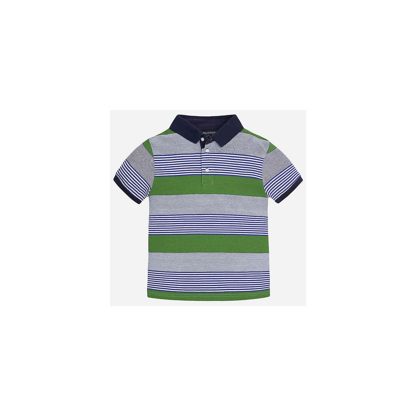 Футболка-поло для мальчика MayoralХарактеристики товара:<br><br>• цвет: серый/зеленый/синий<br>• состав: 100% хлопок<br>• отложной воротник<br>• декорирована вышивкой<br>• короткие рукава<br>• застежки: пуговицы<br>• страна бренда: Испания<br><br>Удобная стильная футболка-поло поможет разнообразить гардероб мальчика. Она отлично сочетается с брюками, шортами, джинсами. Универсальный крой и цвет позволяет подобрать к вещи низ разных расцветок. Практичное и стильное изделие! Хорошо смотрится и комфортно сидит на детях. В составе материала - только натуральный хлопок, гипоаллергенный, приятный на ощупь, дышащий. <br><br>Одежда, обувь и аксессуары от испанского бренда Mayoral полюбились детям и взрослым по всему миру. Модели этой марки - стильные и удобные. Для их производства используются только безопасные, качественные материалы и фурнитура. Порадуйте ребенка модными и красивыми вещами от Mayoral! <br><br>Футболка-поло для мальчика от испанского бренда Mayoral (Майорал) можно купить в нашем интернет-магазине.<br><br>Ширина мм: 230<br>Глубина мм: 40<br>Высота мм: 220<br>Вес г: 250<br>Цвет: разноцветный<br>Возраст от месяцев: 156<br>Возраст до месяцев: 168<br>Пол: Мужской<br>Возраст: Детский<br>Размер: 170,164,158,152,140,128/134<br>SKU: 5281472