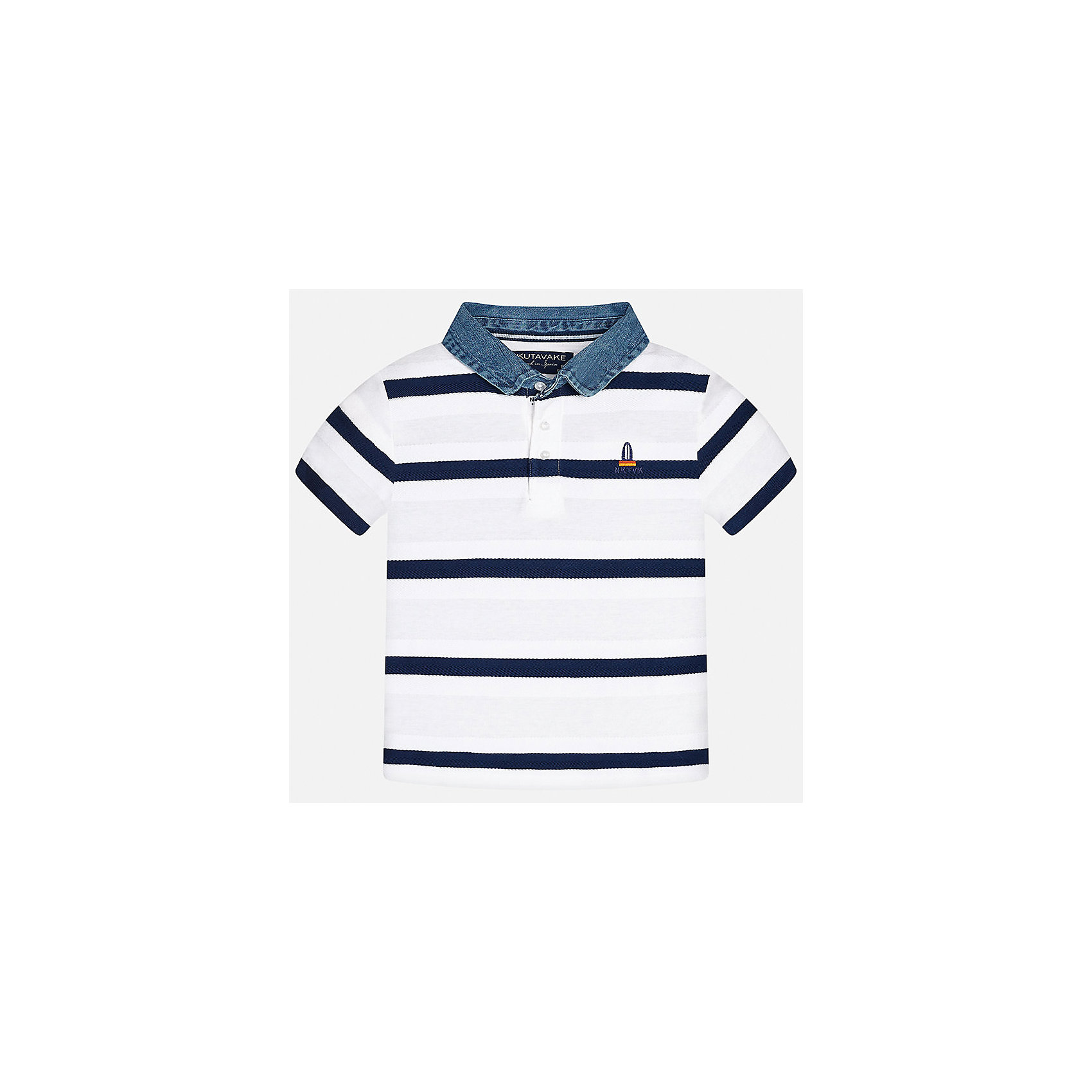 Футболка-поло для мальчика MayoralФутболки, поло и топы<br>Характеристики товара:<br><br>• цвет: белый<br>• состав: 100% хлопок<br>• отложной воротник<br>• декорирована вышивкой<br>• короткие рукава<br>• застежки: пуговицы<br>• страна бренда: Испания<br><br>Удобная стильная футболка-поло поможет разнообразить гардероб мальчика. Она отлично сочетается с брюками, шортами, джинсами. Универсальный крой и цвет позволяет подобрать к вещи низ разных расцветок. Практичное и стильное изделие! Хорошо смотрится и комфортно сидит на детях. В составе материала - только натуральный хлопок, гипоаллергенный, приятный на ощупь, дышащий. <br><br>Одежда, обувь и аксессуары от испанского бренда Mayoral полюбились детям и взрослым по всему миру. Модели этой марки - стильные и удобные. Для их производства используются только безопасные, качественные материалы и фурнитура. Порадуйте ребенка модными и красивыми вещами от Mayoral! <br><br>Футболку-поло для мальчика от испанского бренда Mayoral (Майорал) можно купить в нашем интернет-магазине.<br><br>Ширина мм: 199<br>Глубина мм: 10<br>Высота мм: 161<br>Вес г: 151<br>Цвет: белый<br>Возраст от месяцев: 84<br>Возраст до месяцев: 96<br>Пол: Мужской<br>Возраст: Детский<br>Размер: 128/134,164,140,170,158,152<br>SKU: 5281496