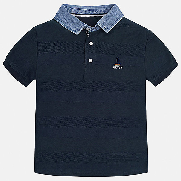Футболка-поло для мальчика MayoralФутболки, поло и топы<br>Характеристики товара:<br><br>• цвет: синий<br>• состав: 100% хлопок<br>• отложной воротник<br>• декорирована вышивкой<br>• короткие рукава<br>• застежки: пуговицы<br>• страна бренда: Испания<br><br>Удобная стильная рубашка-поло поможет разнообразить гардероб мальчика. Она отлично сочетается с брюками, шортами, джинсами. Универсальный крой и цвет позволяет подобрать к вещи низ разных расцветок. Практичное и стильное изделие! Хорошо смотрится и комфортно сидит на детях. В составе материала - только натуральный хлопок, гипоаллергенный, приятный на ощупь, дышащий. <br><br>Одежда, обувь и аксессуары от испанского бренда Mayoral полюбились детям и взрослым по всему миру. Модели этой марки - стильные и удобные. Для их производства используются только безопасные, качественные материалы и фурнитура. Порадуйте ребенка модными и красивыми вещами от Mayoral! <br><br>Рубашку-поло для мальчика от испанского бренда Mayoral (Майорал) можно купить в нашем интернет-магазине.<br>Ширина мм: 199; Глубина мм: 10; Высота мм: 161; Вес г: 151; Цвет: синий; Возраст от месяцев: 132; Возраст до месяцев: 144; Пол: Мужской; Возраст: Детский; Размер: 158,170,128/134,164,152,140; SKU: 5281503;