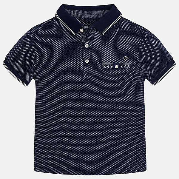 Футболка-поло для мальчика MayoralФутболки, поло и топы<br>Характеристики товара:<br><br>• цвет: синий<br>• состав: 100% хлопок<br>• отложной воротник<br>• декорирована вышивкой<br>• короткие рукава<br>• застежки: пуговицы<br>• страна бренда: Испания<br><br>Удобная стильная рубашка-поло поможет разнообразить гардероб мальчика. Она отлично сочетается с брюками, шортами, джинсами. Универсальный крой и цвет позволяет подобрать к вещи низ разных расцветок. Практичное и стильное изделие! Хорошо смотрится и комфортно сидит на детях. В составе материала - только натуральный хлопок, гипоаллергенный, приятный на ощупь, дышащий. <br><br>Одежда, обувь и аксессуары от испанского бренда Mayoral полюбились детям и взрослым по всему миру. Модели этой марки - стильные и удобные. Для их производства используются только безопасные, качественные материалы и фурнитура. Порадуйте ребенка модными и красивыми вещами от Mayoral! <br><br>Рубашку-поло для мальчика от испанского бренда Mayoral (Майорал) можно купить в нашем интернет-магазине.<br><br>Ширина мм: 199<br>Глубина мм: 10<br>Высота мм: 161<br>Вес г: 151<br>Цвет: синий<br>Возраст от месяцев: 84<br>Возраст до месяцев: 96<br>Пол: Мужской<br>Возраст: Детский<br>Размер: 128/134,164,140,152,158,170<br>SKU: 5281510