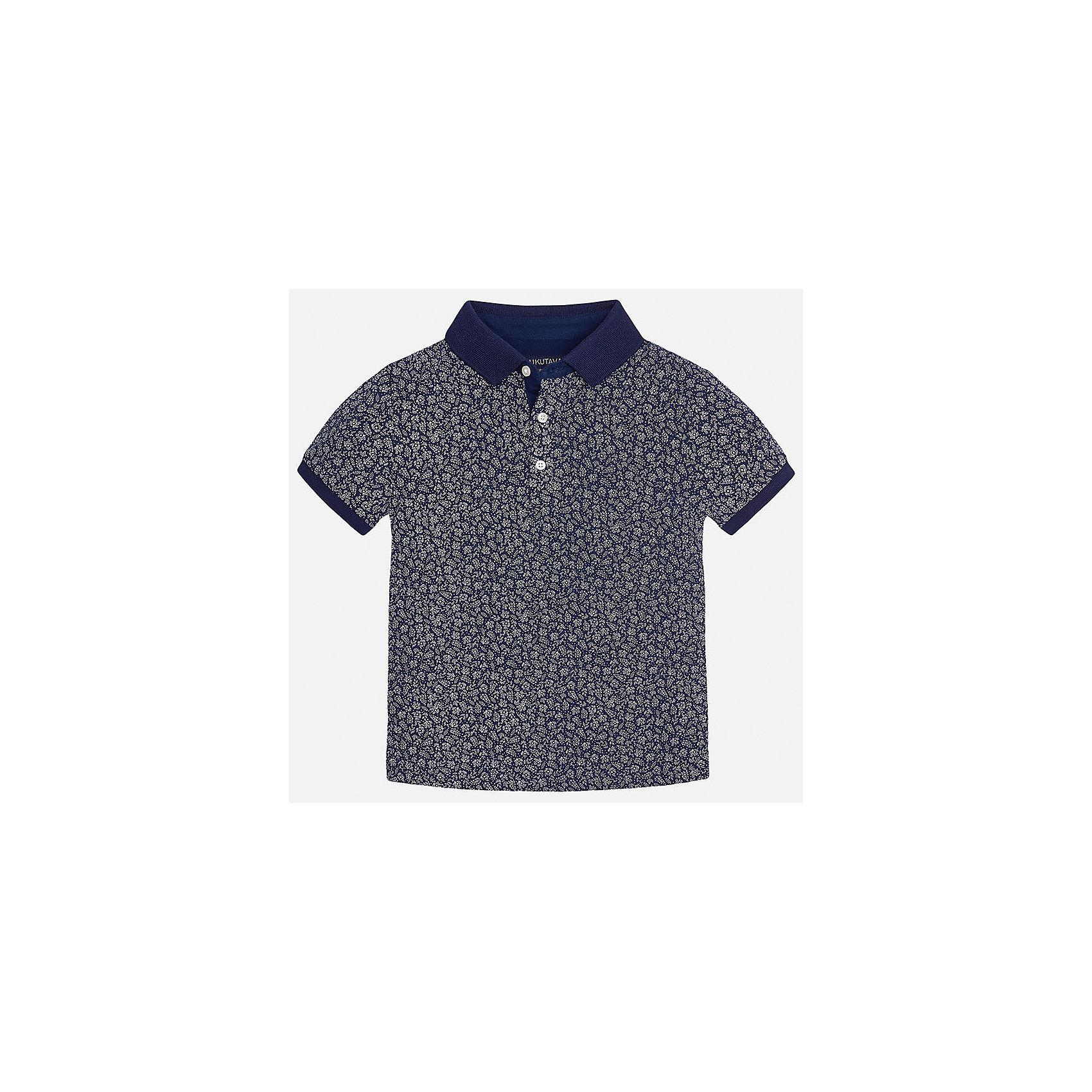 Футболка-поло для мальчика MayoralДжинсовый бум<br>Характеристики товара:<br><br>• цвет: синий<br>• состав: 100% хлопок<br>• отложной воротник<br>• декорирована принтом<br>• короткие рукава<br>• застежки: пуговицы<br>• страна бренда: Испания<br><br>Удобная стильная рубашка-поло поможет разнообразить гардероб мальчика. Она отлично сочетается с брюками, шортами, джинсами. Универсальный крой и цвет позволяет подобрать к вещи низ разных расцветок. Практичное и стильное изделие! Хорошо смотрится и комфортно сидит на детях. В составе материала - только натуральный хлопок, гипоаллергенный, приятный на ощупь, дышащий. <br><br>Одежда, обувь и аксессуары от испанского бренда Mayoral полюбились детям и взрослым по всему миру. Модели этой марки - стильные и удобные. Для их производства используются только безопасные, качественные материалы и фурнитура. Порадуйте ребенка модными и красивыми вещами от Mayoral! <br><br>Рубашку-поло для мальчика от испанского бренда Mayoral (Майорал) можно купить в нашем интернет-магазине.<br><br>Ширина мм: 230<br>Глубина мм: 40<br>Высота мм: 220<br>Вес г: 250<br>Цвет: синий<br>Возраст от месяцев: 120<br>Возраст до месяцев: 132<br>Пол: Мужской<br>Возраст: Детский<br>Размер: 152,164,128/134,170,158,140<br>SKU: 5281524