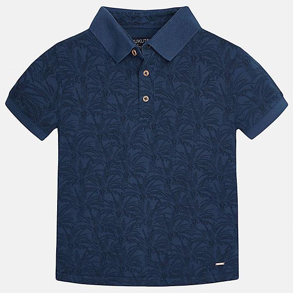 Футболка-поло для мальчика MayoralФутболки, поло и топы<br>Характеристики товара:<br><br>• цвет: синий<br>• состав: 100% хлопок<br>• отложной воротник<br>• декорирована принтом<br>• короткие рукава<br>• застежки: пуговицы<br>• страна бренда: Испания<br><br>Модная футболка-поло поможет разнообразить гардероб мальчика. Она отлично сочетается с брюками, шортами, джинсами. Универсальный крой и цвет позволяет подобрать к вещи низ разных расцветок. Практичное и стильное изделие! Хорошо смотрится и комфортно сидит на детях. В составе материала - только натуральный хлопок, гипоаллергенный, приятный на ощупь, дышащий. <br><br>Одежда, обувь и аксессуары от испанского бренда Mayoral полюбились детям и взрослым по всему миру. Модели этой марки - стильные и удобные. Для их производства используются только безопасные, качественные материалы и фурнитура. Порадуйте ребенка модными и красивыми вещами от Mayoral! <br><br>Футболку-поло для мальчика от испанского бренда Mayoral (Майорал) можно купить в нашем интернет-магазине.<br>Ширина мм: 230; Глубина мм: 40; Высота мм: 220; Вес г: 250; Цвет: синий; Возраст от месяцев: 132; Возраст до месяцев: 144; Пол: Мужской; Возраст: Детский; Размер: 158,140,170,164,128/134,152; SKU: 5281531;