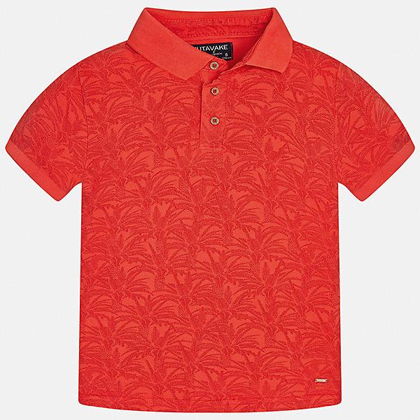 Футболка-поло для мальчика MayoralФутболки, поло и топы<br>Характеристики товара:<br><br>• цвет: красный<br>• состав: 100% хлопок<br>• отложной воротник<br>• декорирована принтом<br>• короткие рукава<br>• застежки: пуговицы<br>• страна бренда: Испания<br><br>Модная футболка-поло поможет разнообразить гардероб мальчика. Она отлично сочетается с брюками, шортами, джинсами. Универсальный крой и цвет позволяет подобрать к вещи низ разных расцветок. Практичное и стильное изделие! Хорошо смотрится и комфортно сидит на детях. В составе материала - только натуральный хлопок, гипоаллергенный, приятный на ощупь, дышащий. <br><br>Одежда, обувь и аксессуары от испанского бренда Mayoral полюбились детям и взрослым по всему миру. Модели этой марки - стильные и удобные. Для их производства используются только безопасные, качественные материалы и фурнитура. Порадуйте ребенка модными и красивыми вещами от Mayoral! <br><br>Футболку-поло для мальчика от испанского бренда Mayoral (Майорал) можно купить в нашем интернет-магазине.<br>Ширина мм: 230; Глубина мм: 40; Высота мм: 220; Вес г: 250; Цвет: розовый; Возраст от месяцев: 120; Возраст до месяцев: 132; Пол: Мужской; Возраст: Детский; Размер: 152,158,164,128/134,170,140; SKU: 5281538;
