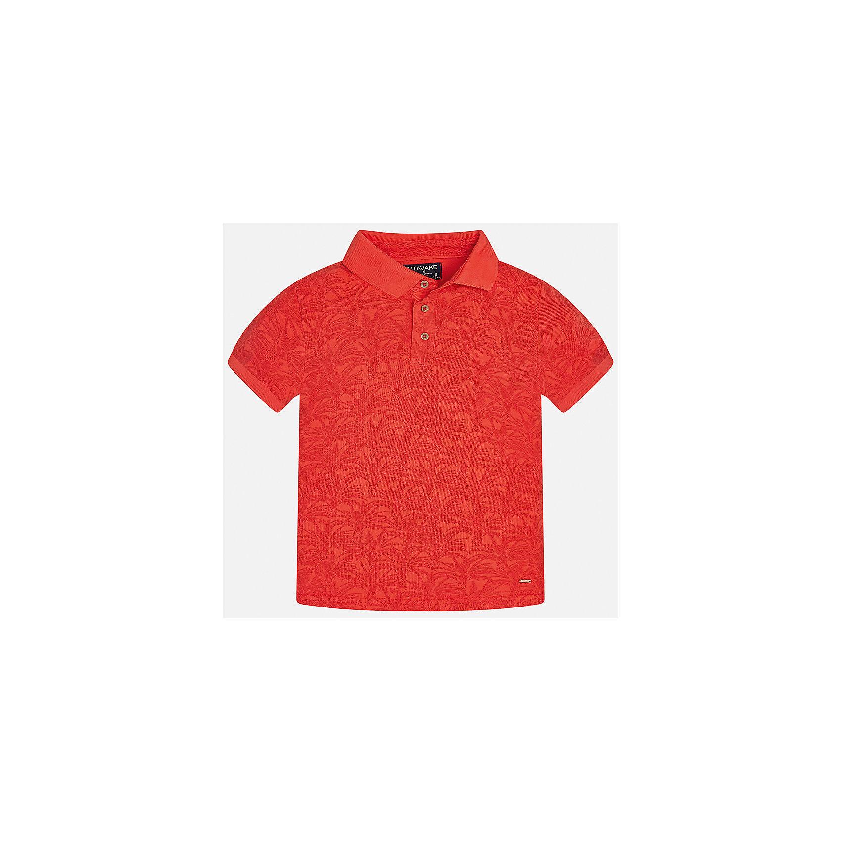 Футболка-поло для мальчика MayoralФутболки, поло и топы<br>Характеристики товара:<br><br>• цвет: красный<br>• состав: 100% хлопок<br>• отложной воротник<br>• декорирована принтом<br>• короткие рукава<br>• застежки: пуговицы<br>• страна бренда: Испания<br><br>Модная футболка-поло поможет разнообразить гардероб мальчика. Она отлично сочетается с брюками, шортами, джинсами. Универсальный крой и цвет позволяет подобрать к вещи низ разных расцветок. Практичное и стильное изделие! Хорошо смотрится и комфортно сидит на детях. В составе материала - только натуральный хлопок, гипоаллергенный, приятный на ощупь, дышащий. <br><br>Одежда, обувь и аксессуары от испанского бренда Mayoral полюбились детям и взрослым по всему миру. Модели этой марки - стильные и удобные. Для их производства используются только безопасные, качественные материалы и фурнитура. Порадуйте ребенка модными и красивыми вещами от Mayoral! <br><br>Футболку-поло для мальчика от испанского бренда Mayoral (Майорал) можно купить в нашем интернет-магазине.<br><br>Ширина мм: 230<br>Глубина мм: 40<br>Высота мм: 220<br>Вес г: 250<br>Цвет: розовый<br>Возраст от месяцев: 120<br>Возраст до месяцев: 132<br>Пол: Мужской<br>Возраст: Детский<br>Размер: 152,170,164,158,140,128/134<br>SKU: 5281538