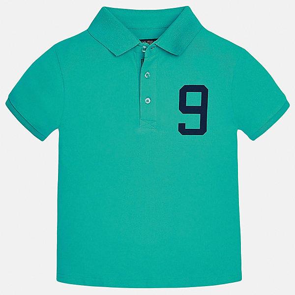 Футболка-поло для мальчика MayoralФутболки, поло и топы<br>Характеристики товара:<br><br>• цвет: зеленый<br>• состав: 95% хлопок, 5% эластан<br>• отложной воротник<br>• декорирована принтом<br>• короткие рукава<br>• застежки: пуговицы<br>• страна бренда: Испания<br><br>Модная футболка-поло поможет разнообразить гардероб мальчика. Она отлично сочетается с брюками, шортами, джинсами. Универсальный крой и цвет позволяет подобрать к вещи низ разных расцветок. Практичное и стильное изделие! Хорошо смотрится и комфортно сидит на детях. В составе материала - только натуральный хлопок, гипоаллергенный, приятный на ощупь, дышащий.<br><br>Одежда, обувь и аксессуары от испанского бренда Mayoral полюбились детям и взрослым по всему миру. Модели этой марки - стильные и удобные. Для их производства используются только безопасные, качественные материалы и фурнитура. Порадуйте ребенка модными и красивыми вещами от Mayoral! <br><br>Футболку-поло для мальчика от испанского бренда Mayoral (Майорал) можно купить в нашем интернет-магазине.<br>Ширина мм: 199; Глубина мм: 10; Высота мм: 161; Вес г: 151; Цвет: зеленый; Возраст от месяцев: 84; Возраст до месяцев: 96; Пол: Мужской; Возраст: Детский; Размер: 128/134,140,152,170,164,158; SKU: 5281547;